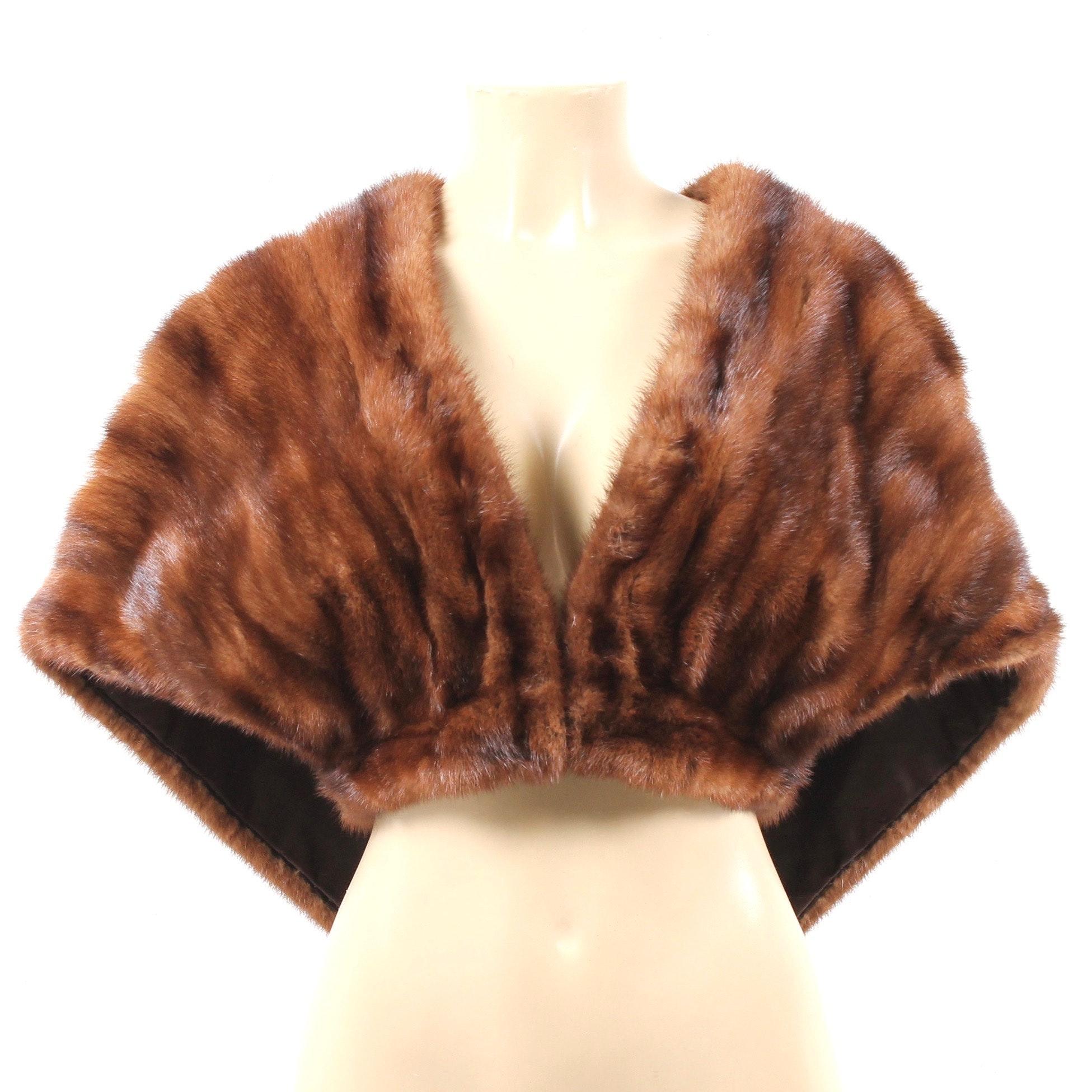 Vintage Mink Fur Capelet