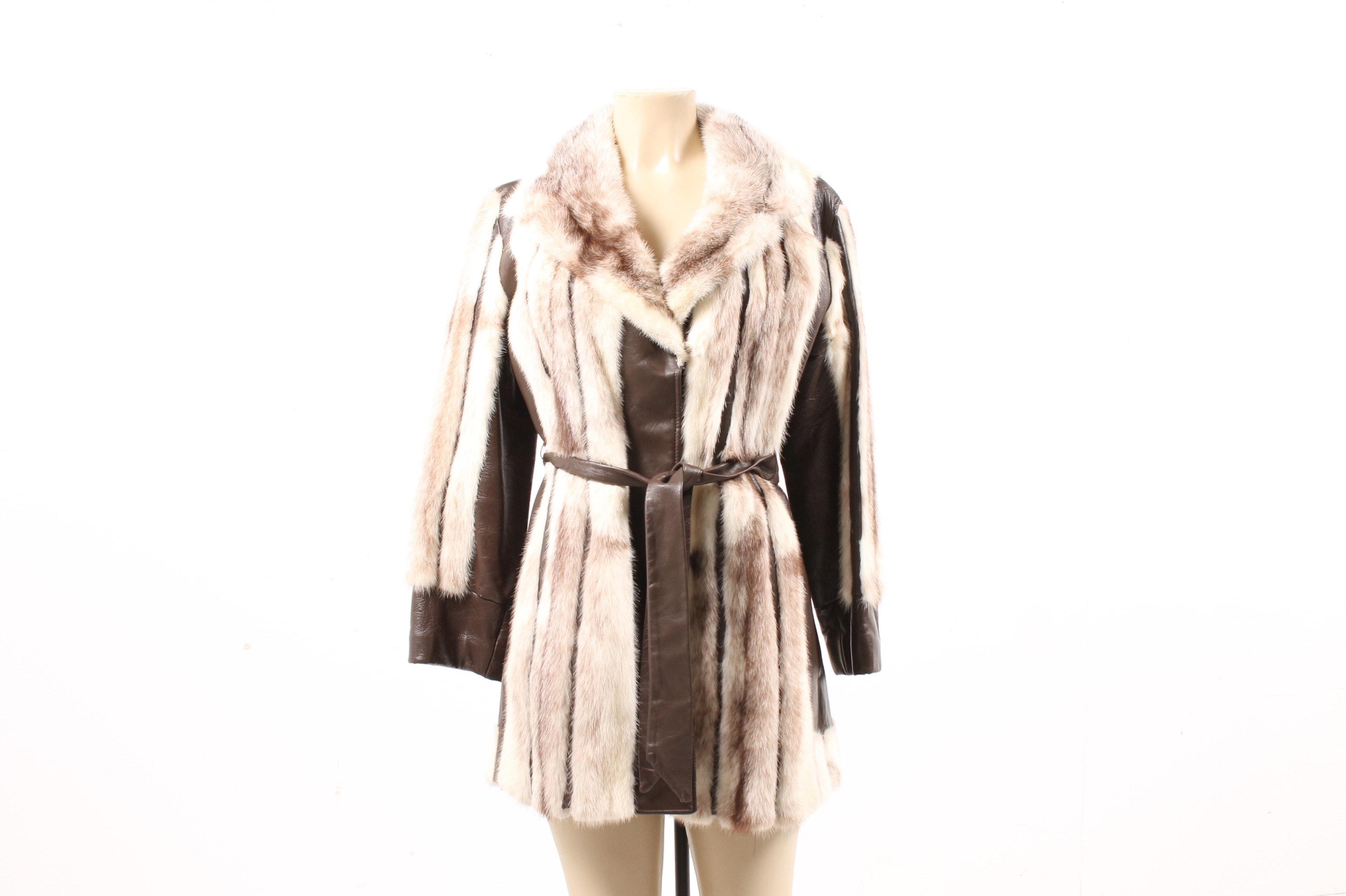 Vintage Mink and Leather Jacket