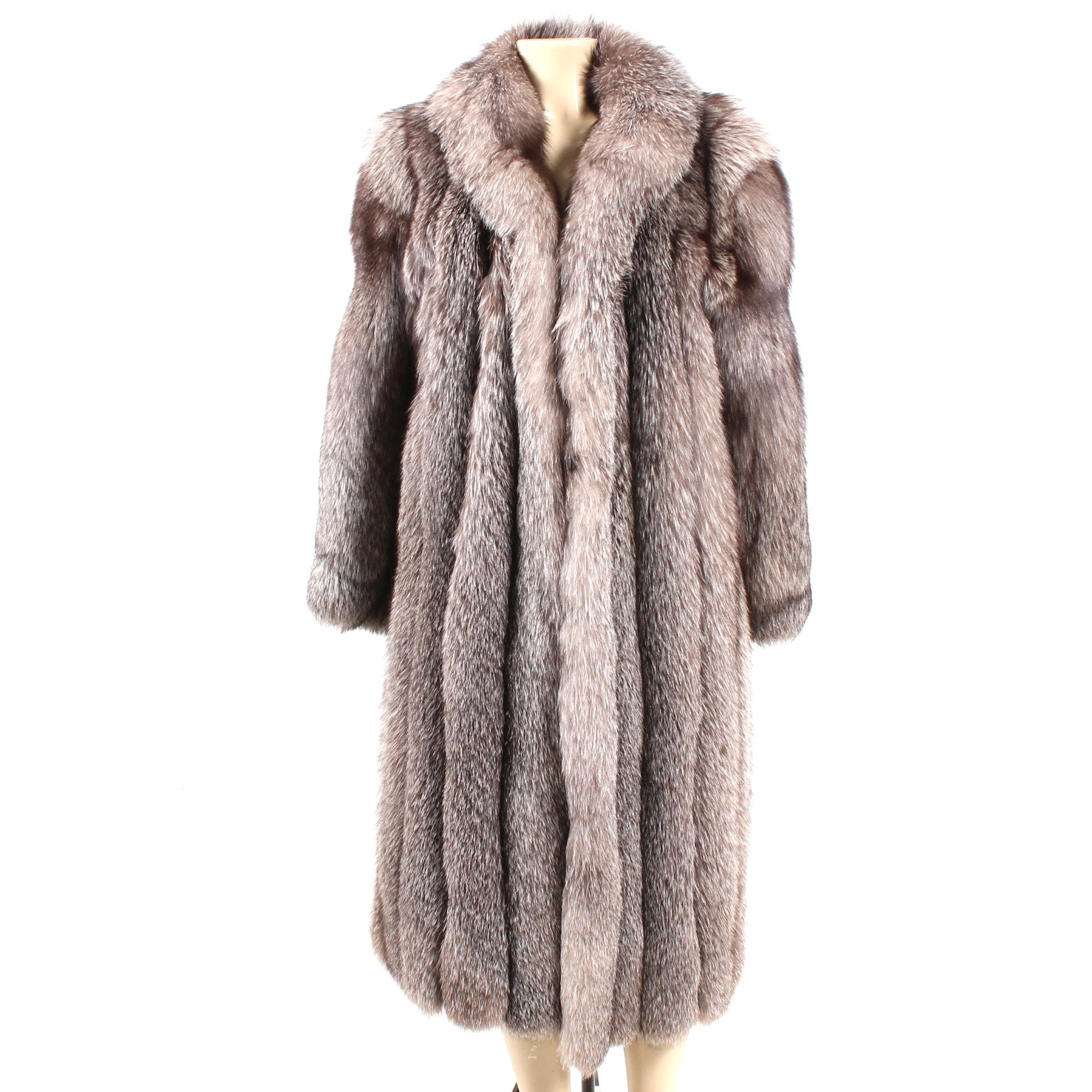 J. Percy for Marvin Richards Ankle-Length Platinum Fox Fur Coat
