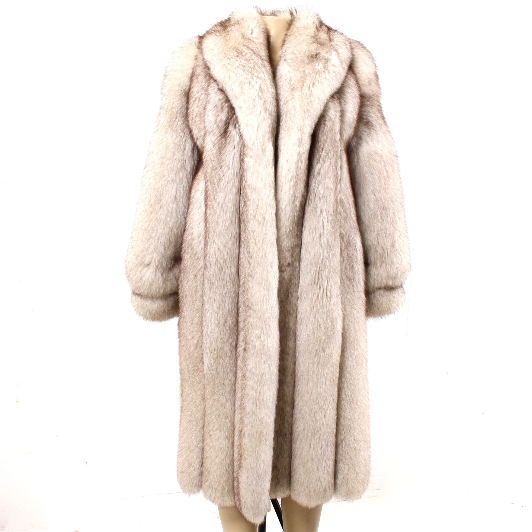 R.M. Taylor Co. Blue Fox Fur Ankle-Length Coat