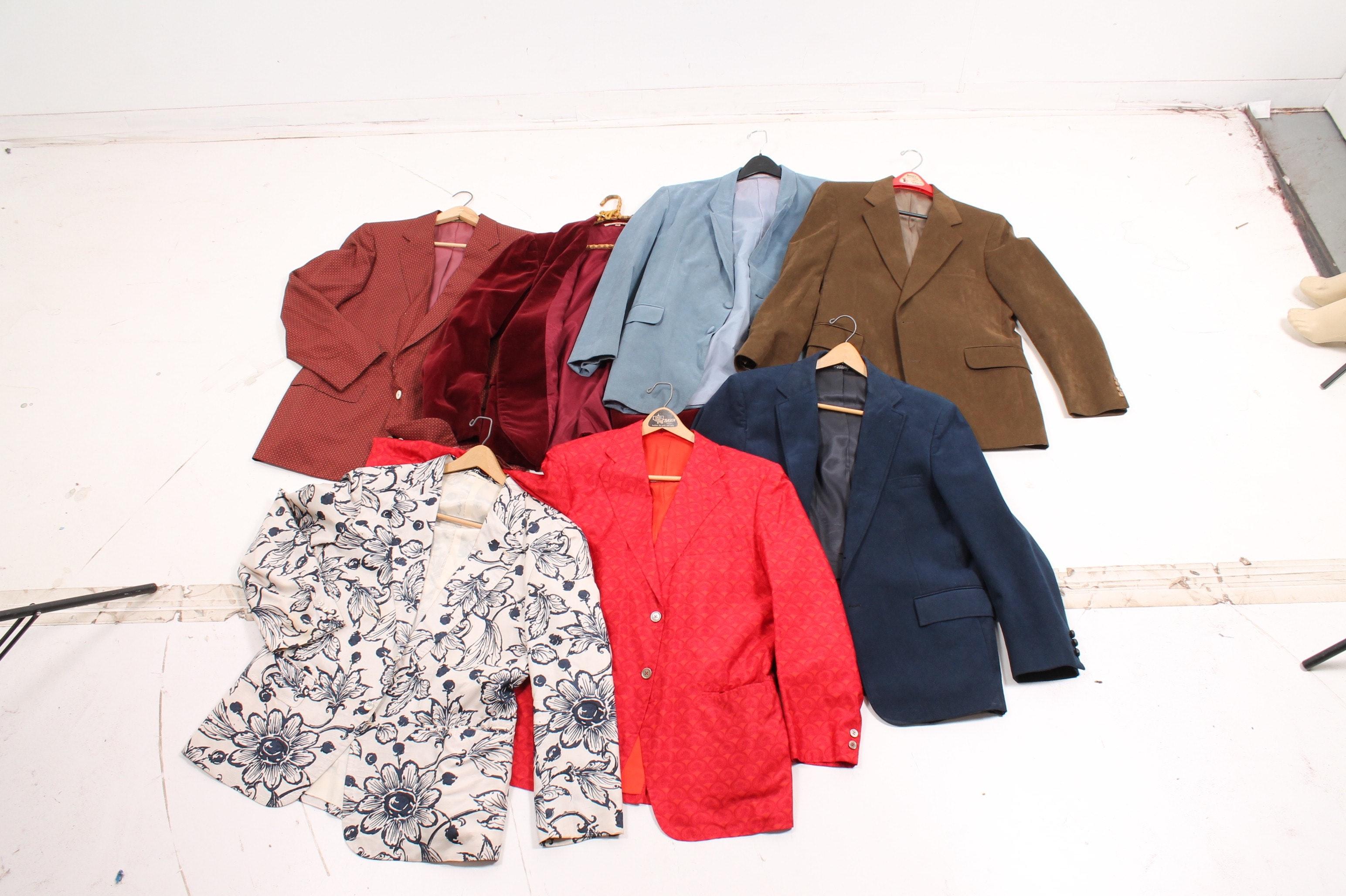 Seven Men's Vintage Sport Coats and Blazers