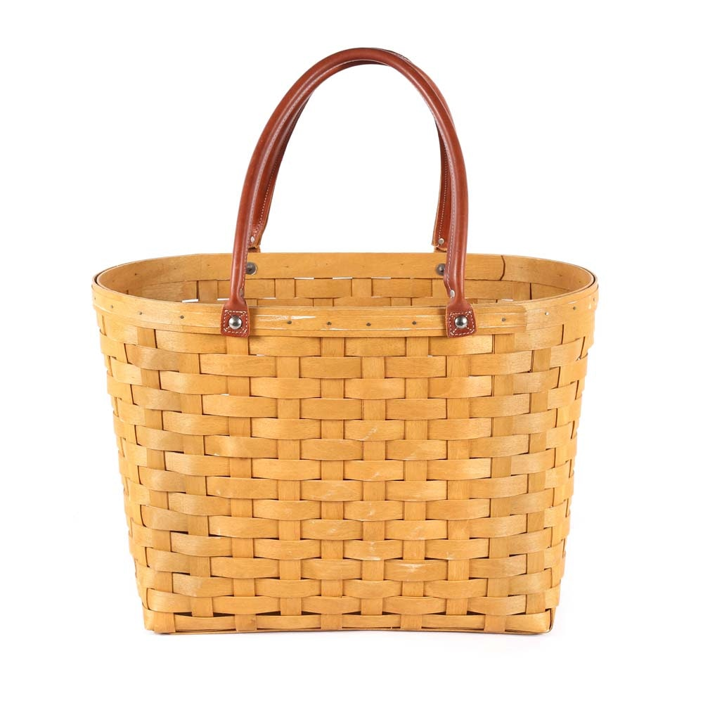 Longaberger Double Handled Tote Basket