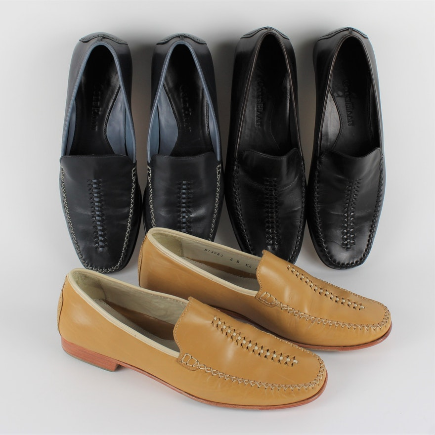 24a6248ac82 Women s Cole Haan Leather Slip-On Loafers   EBTH
