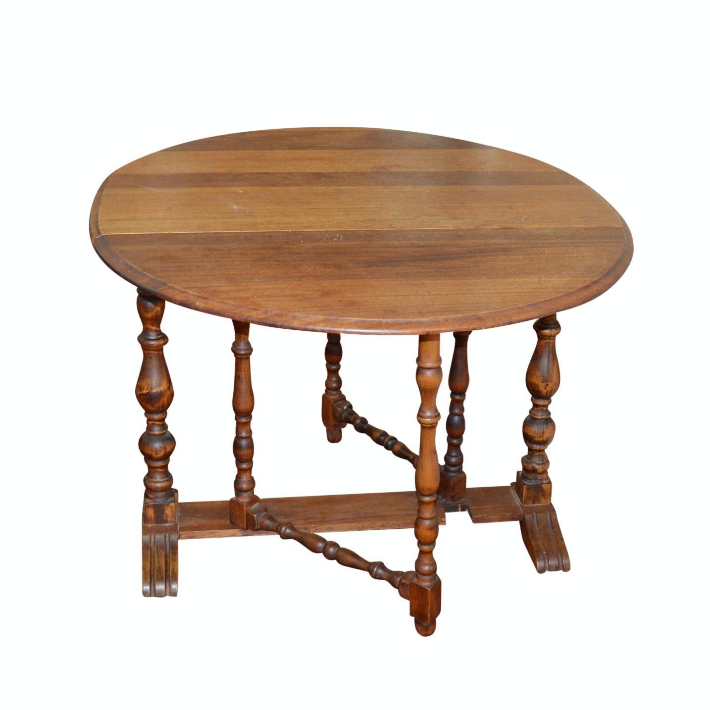 Antique Drop-Leaf Kitchen Table