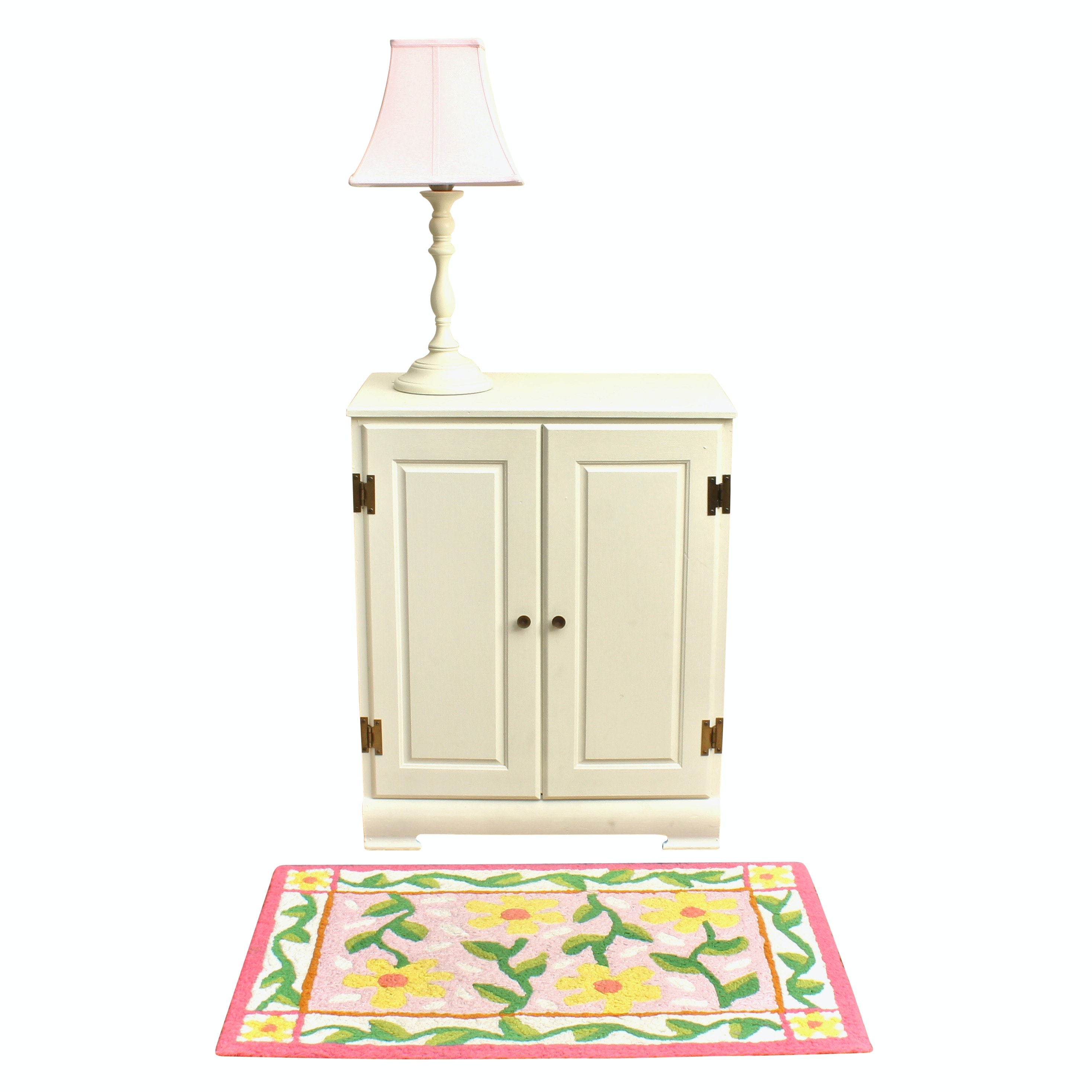 Vintage Painted Cabinet and Pottery Barn Kids Lamp