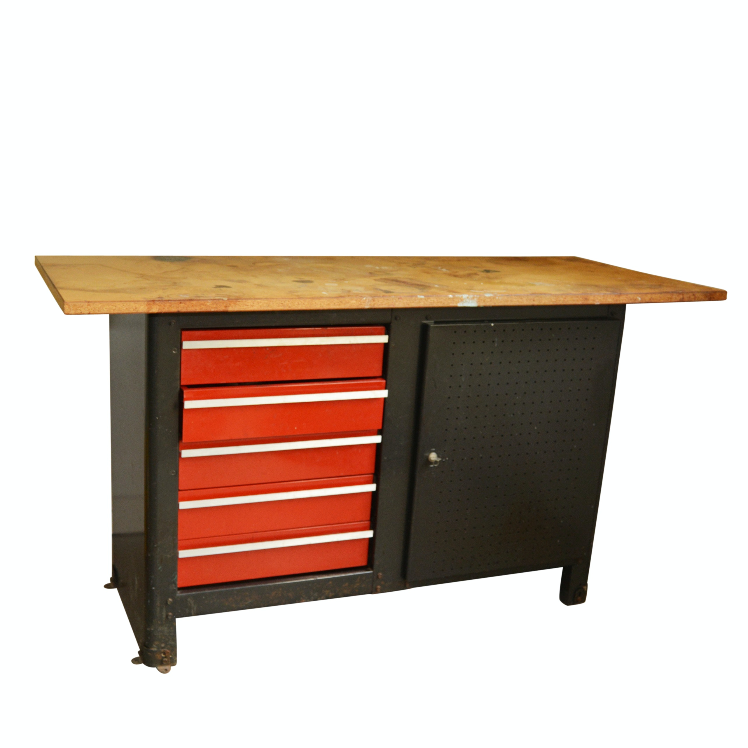 Work Bench and Cabinet Combination