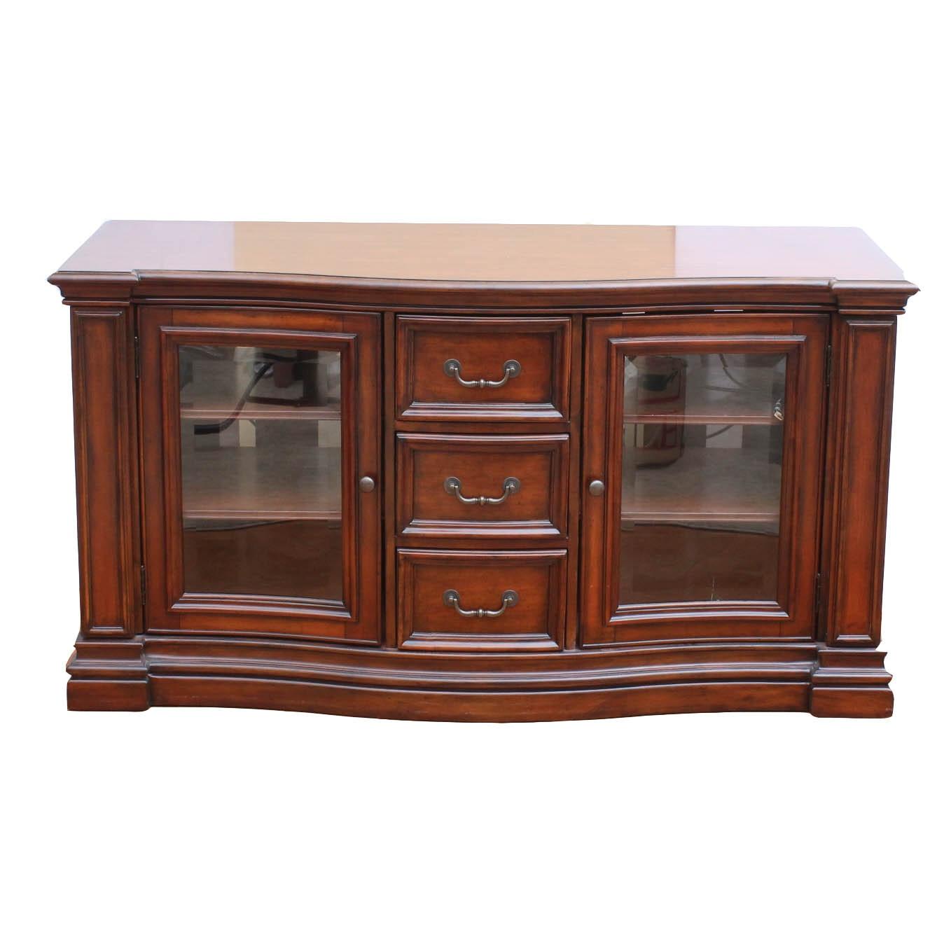 Hooker Furniture Cherry Veneer Credenza/Entertainment Stand