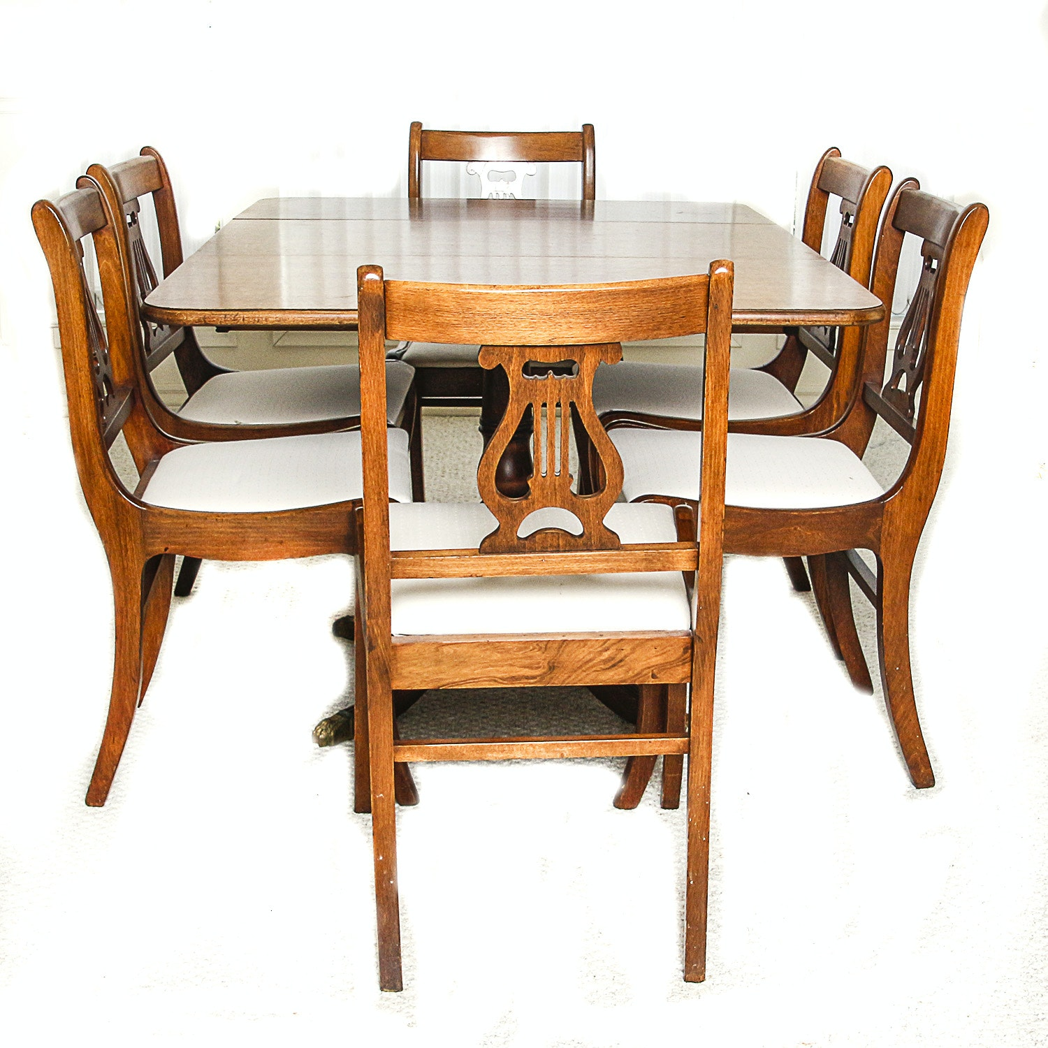Federal Style Dining Table with Six Chairs