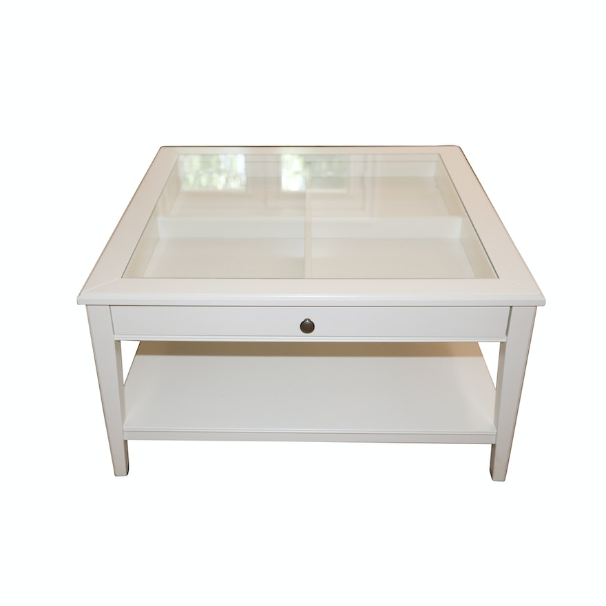 White Display Top Coffee Table