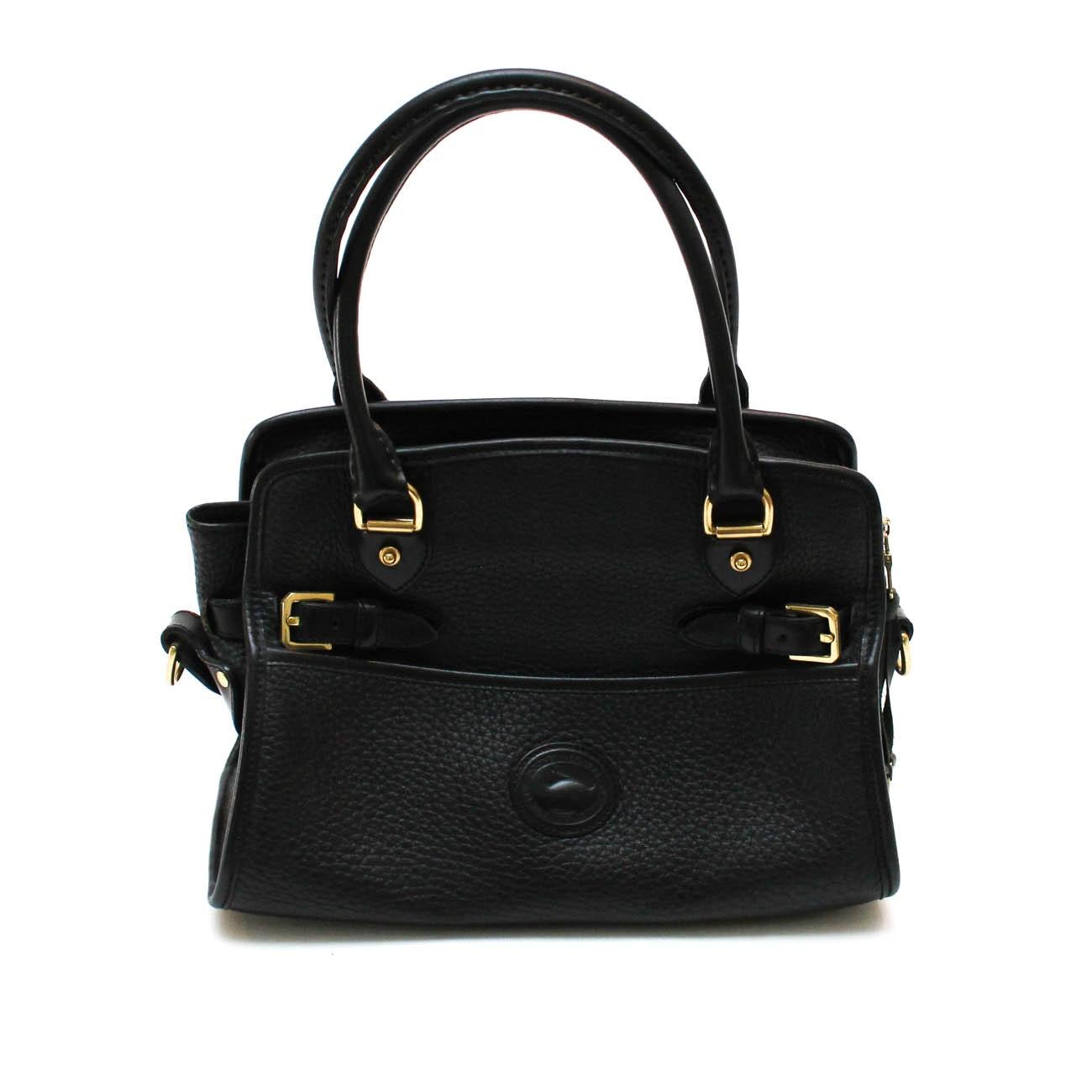 Dooney and Bourke Black Pebble Grain Leather Handbag