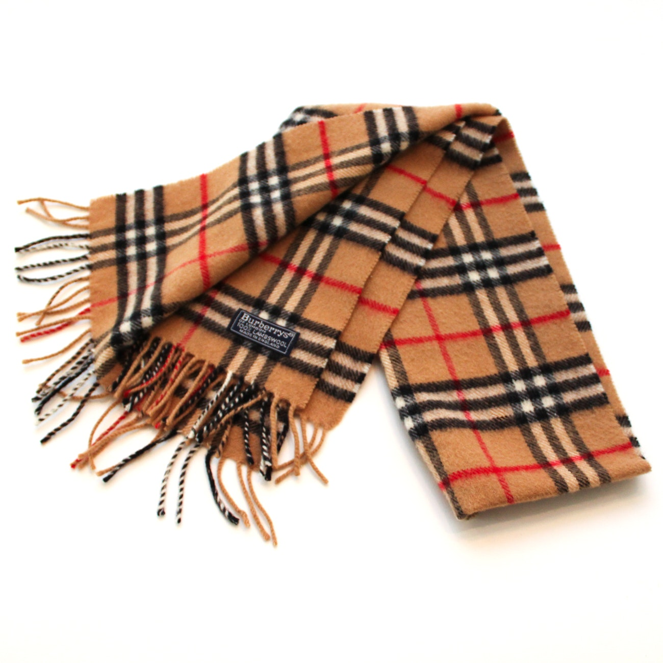 "Burberrys Classic ""Nova Check"" Plaid Wool Scarf"