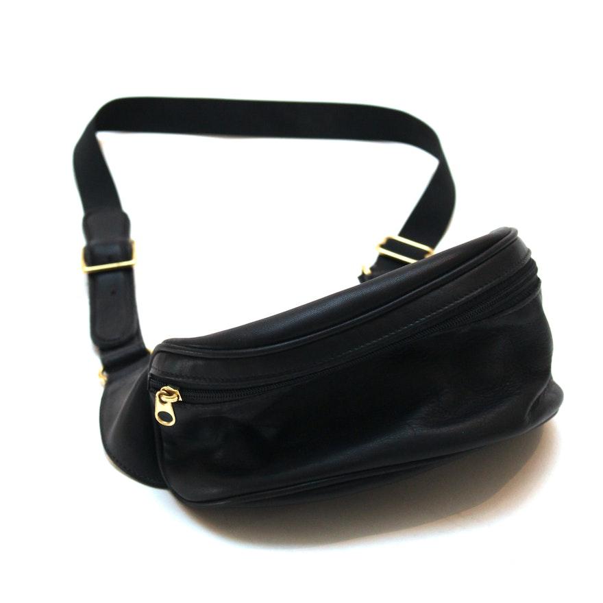 98fa4e4030 Coach Black Leather Belt Bag