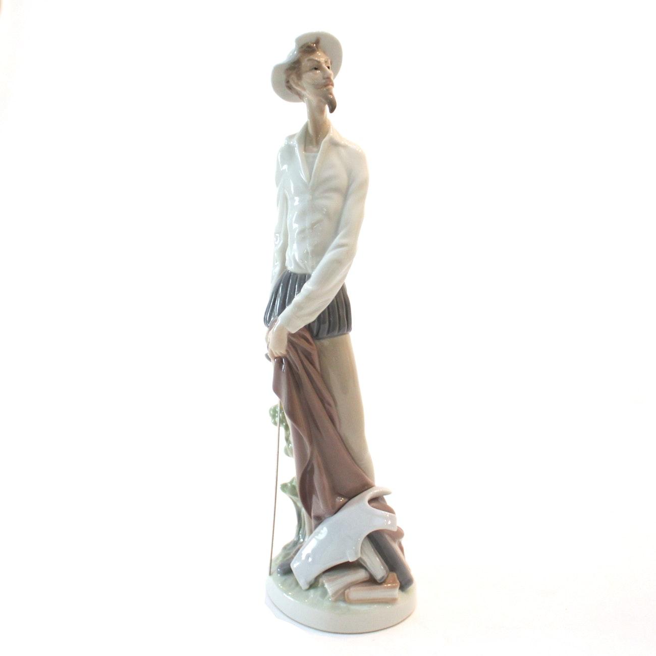 """Lladró """"Don Quixote Standing Up"""" Porcelain Figurine"""