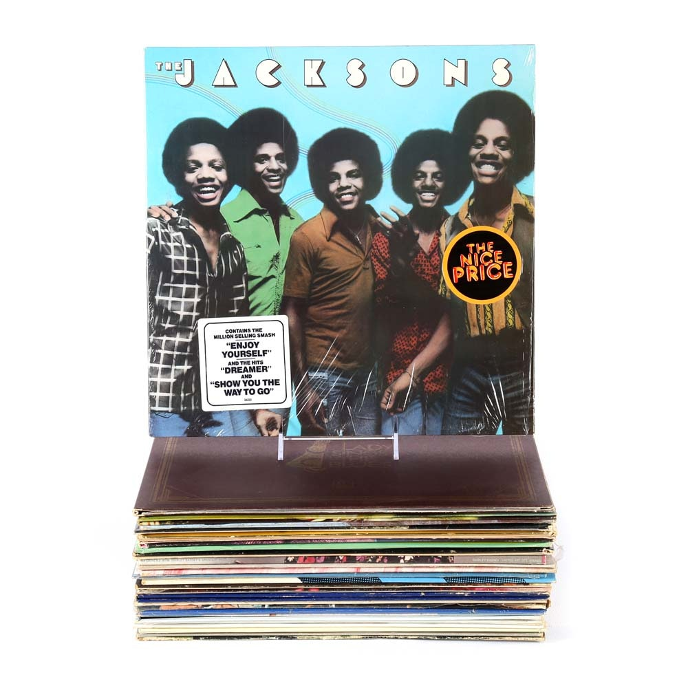 Collection of Vintage Soul Records featuring The Jackson and Diana Ross