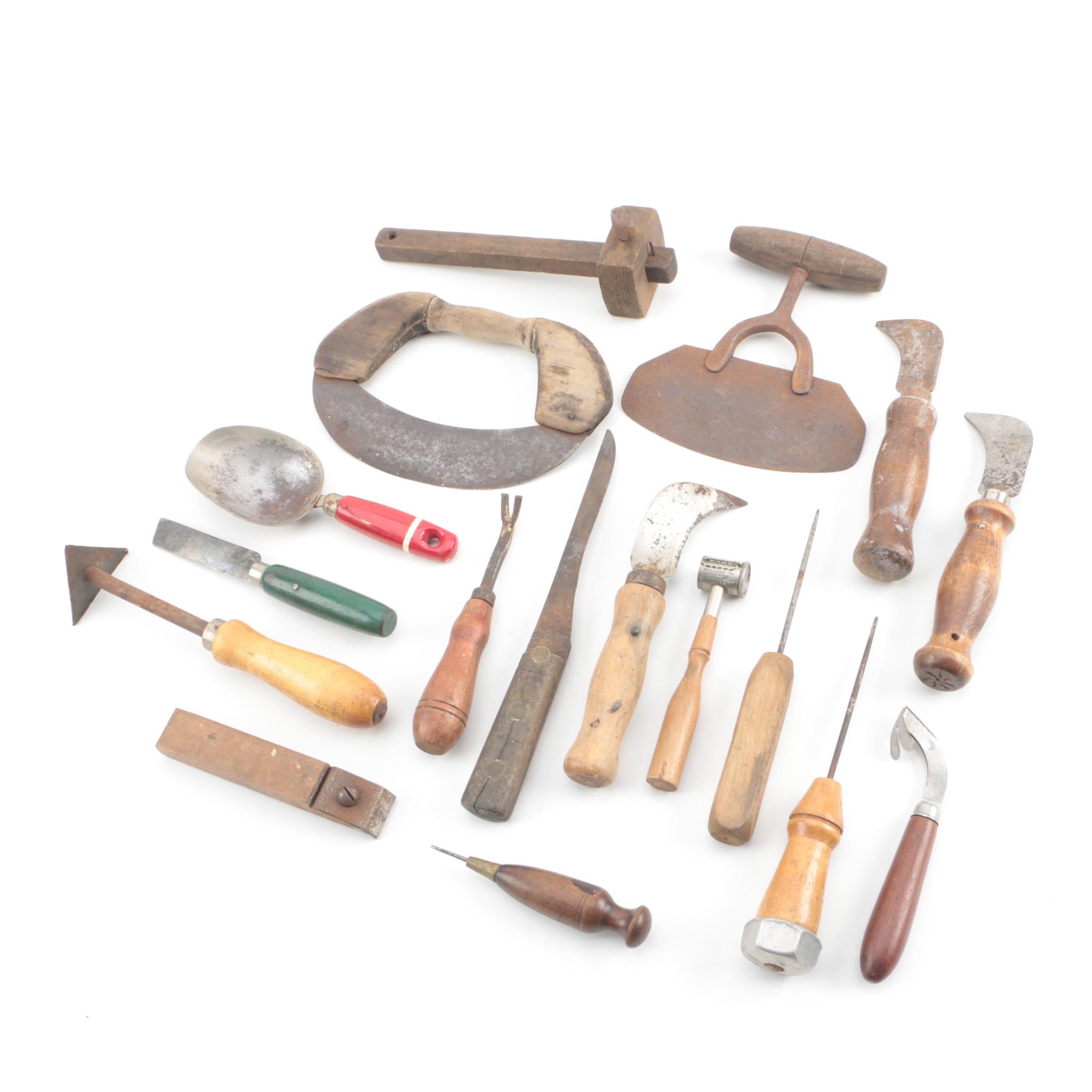 Antique And Vintage Kitchen, Upholstery, And Garden Tools ...