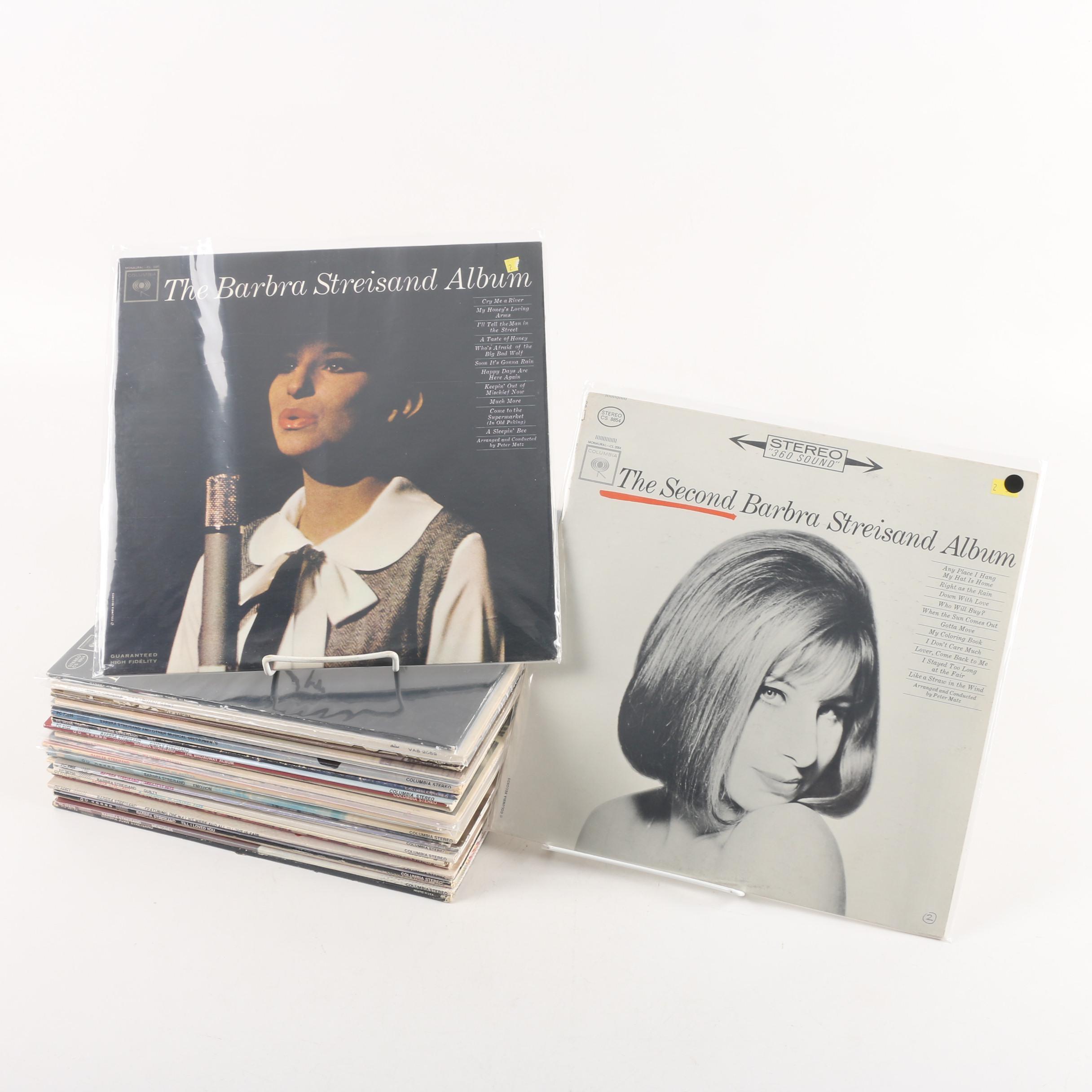 Vintage Barbara Streisand Pop Records