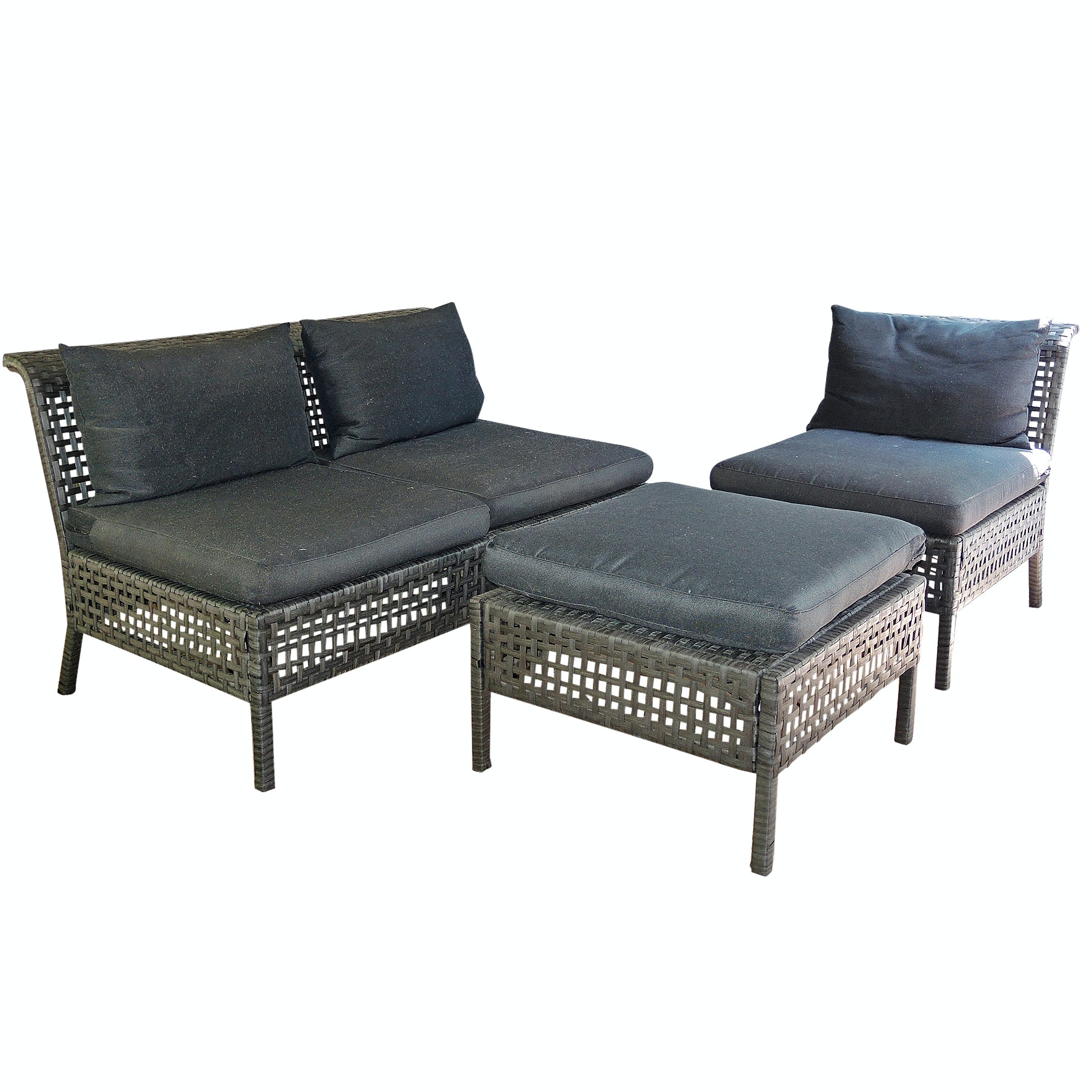 IKEA Modular Patio Sofa, Chair and Ottoman