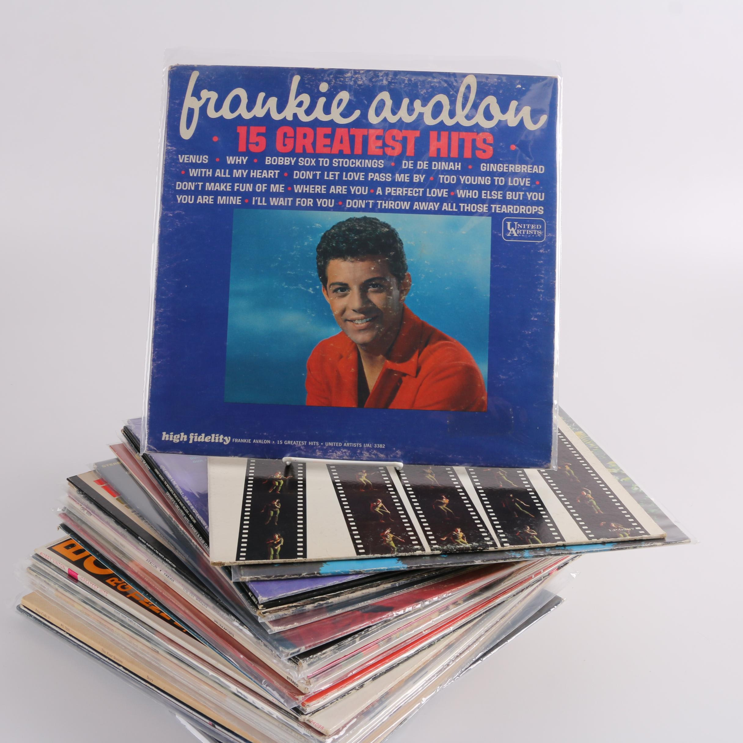 Vintage Pop, Rock and Crooner Records Including Sandy Nelson, Joel Grey and Dion