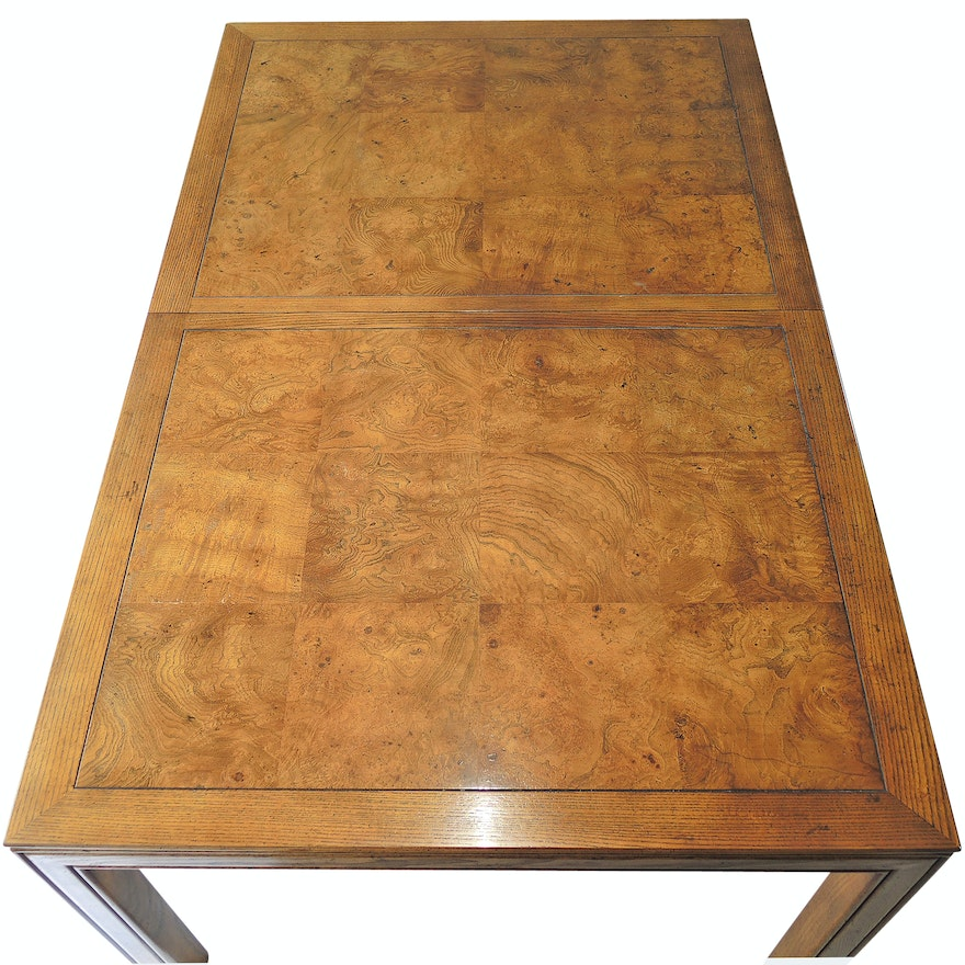Henredon Scene One Burl Top Dining Table
