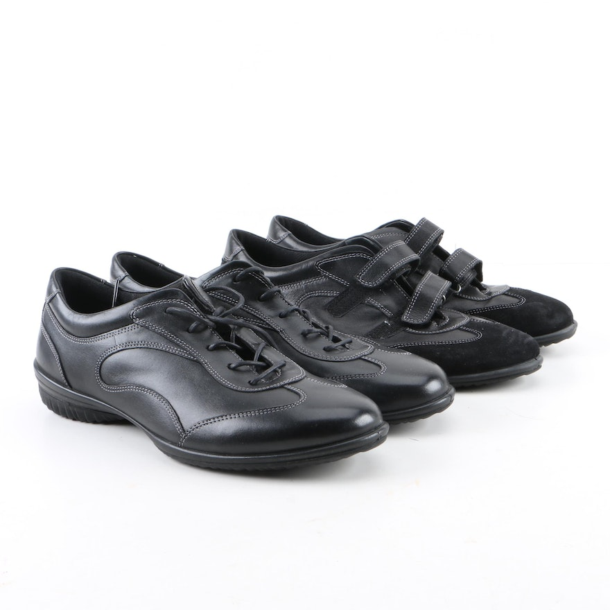 02932c7ca820 Women s Ecco Black Leather Casual Shoes   EBTH