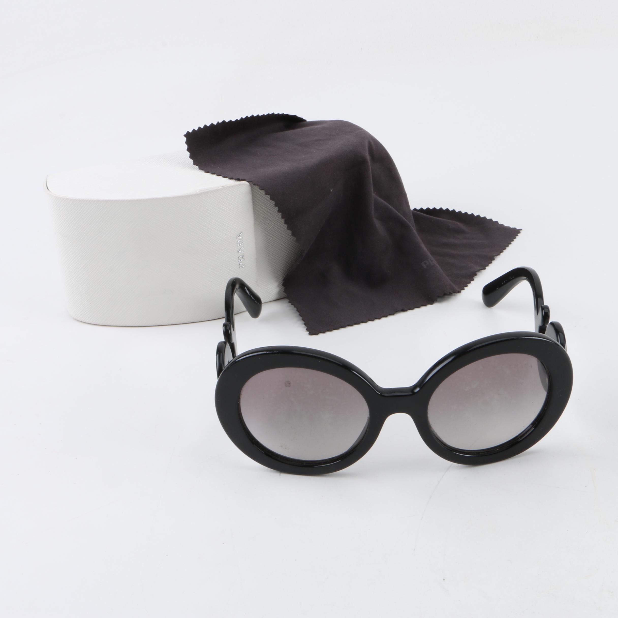 d7d0134175 ... spain prada black baroque sunglasses with case a1ff6 cc241