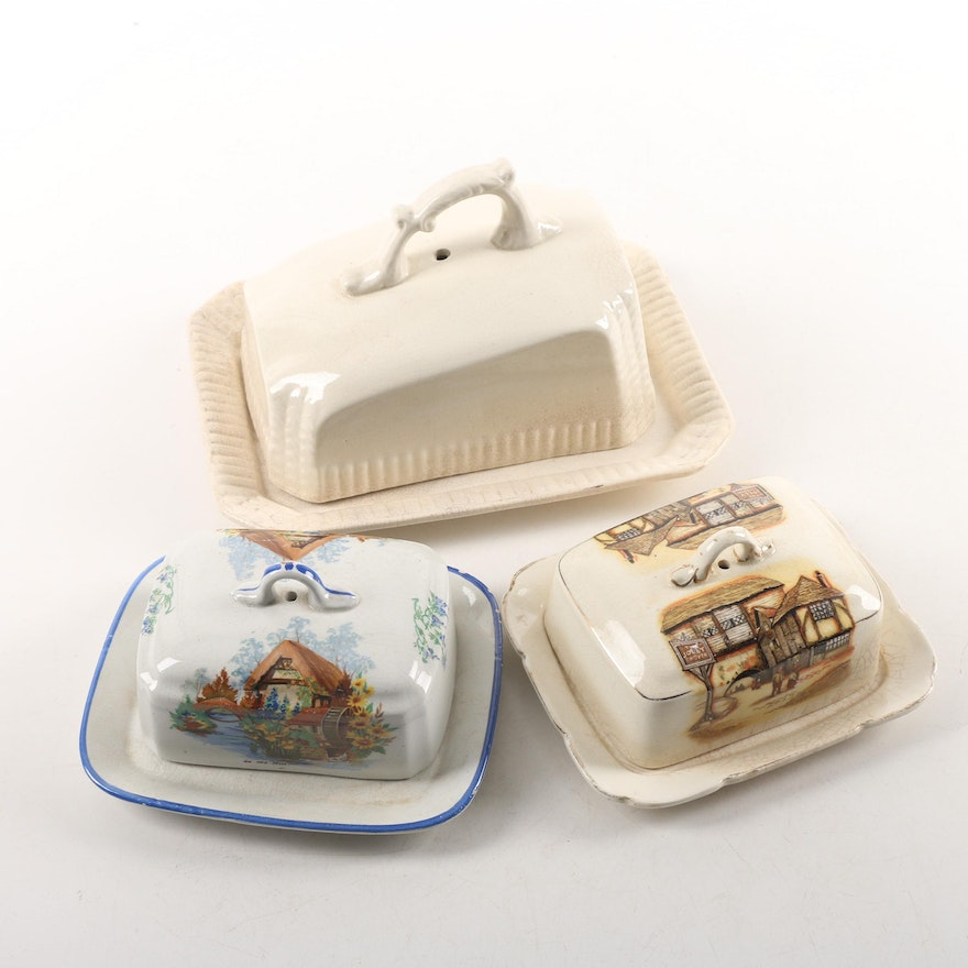 Cheese Keeper And Vintage Er Dishes
