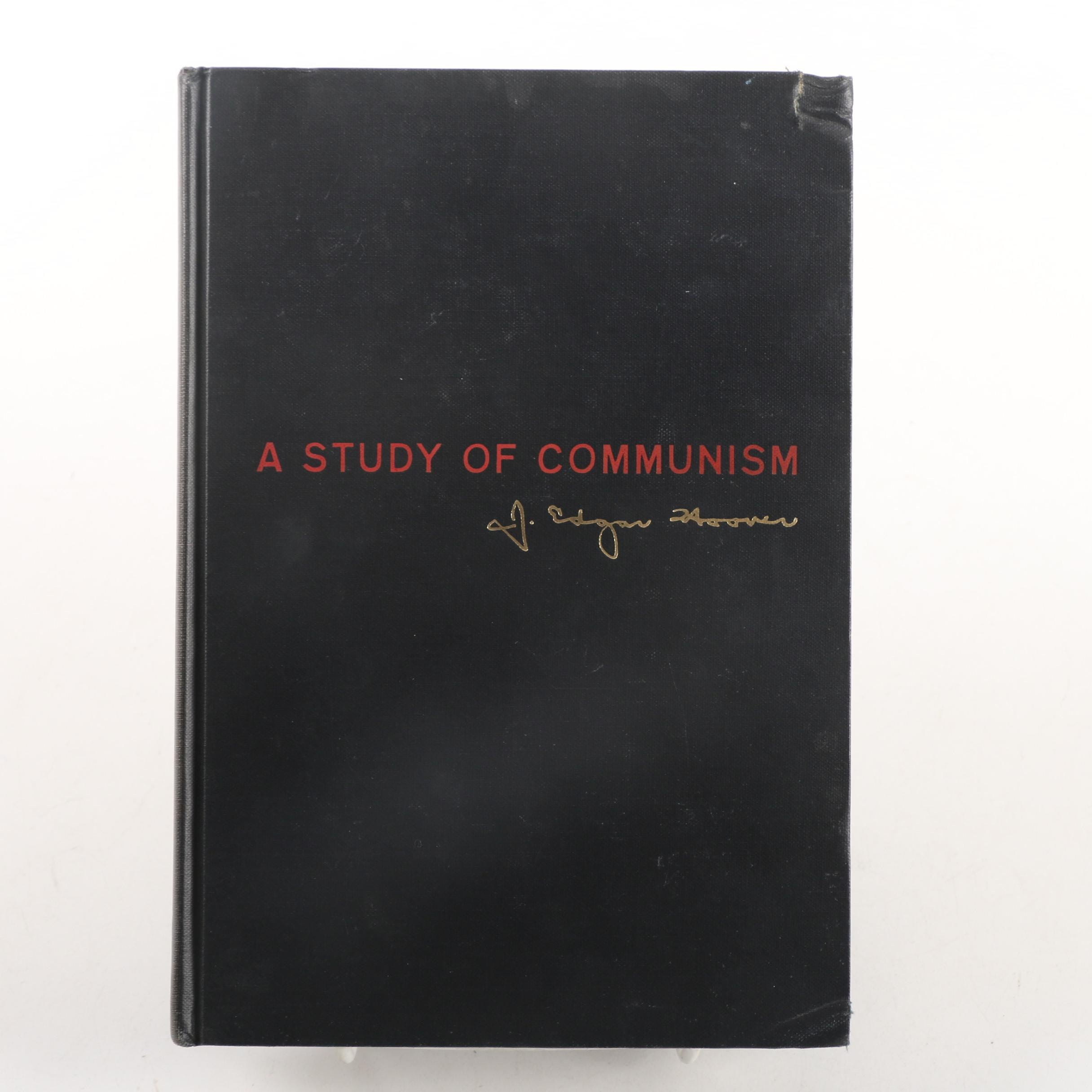 "1962 Signed ""A Study of Communism"" by J. Edgar Hoover"