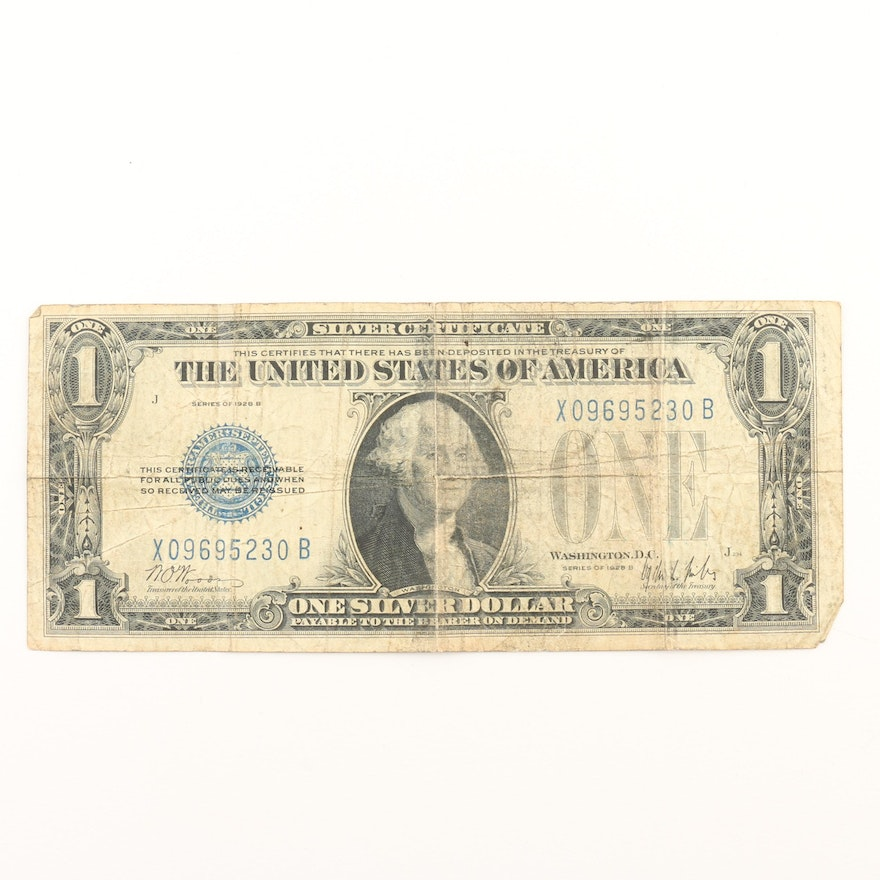 Series of 1923 B $1 Silver Certificate \