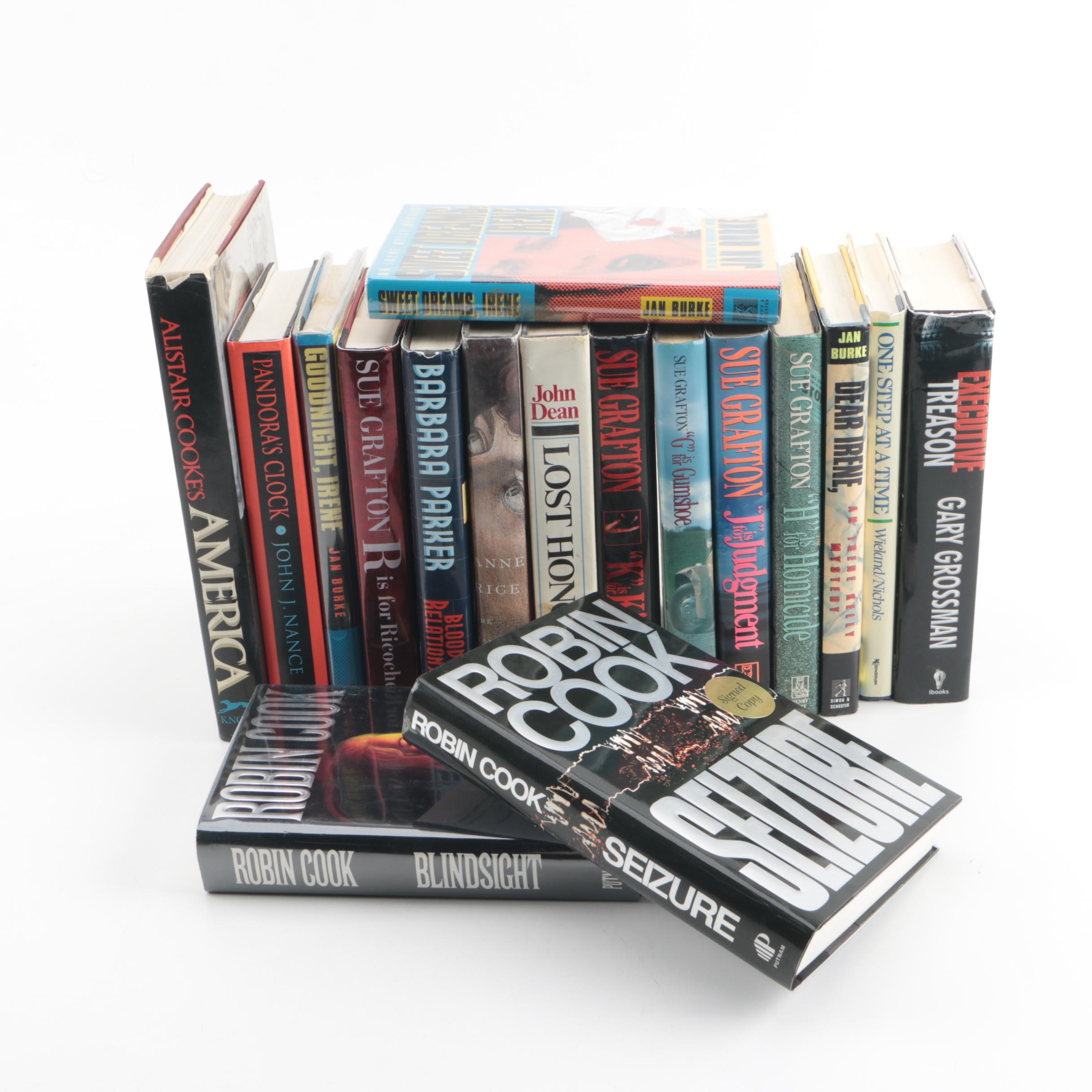 Autographed Mystery and Suspense Novels, including Sue Grafton and Anne Rice