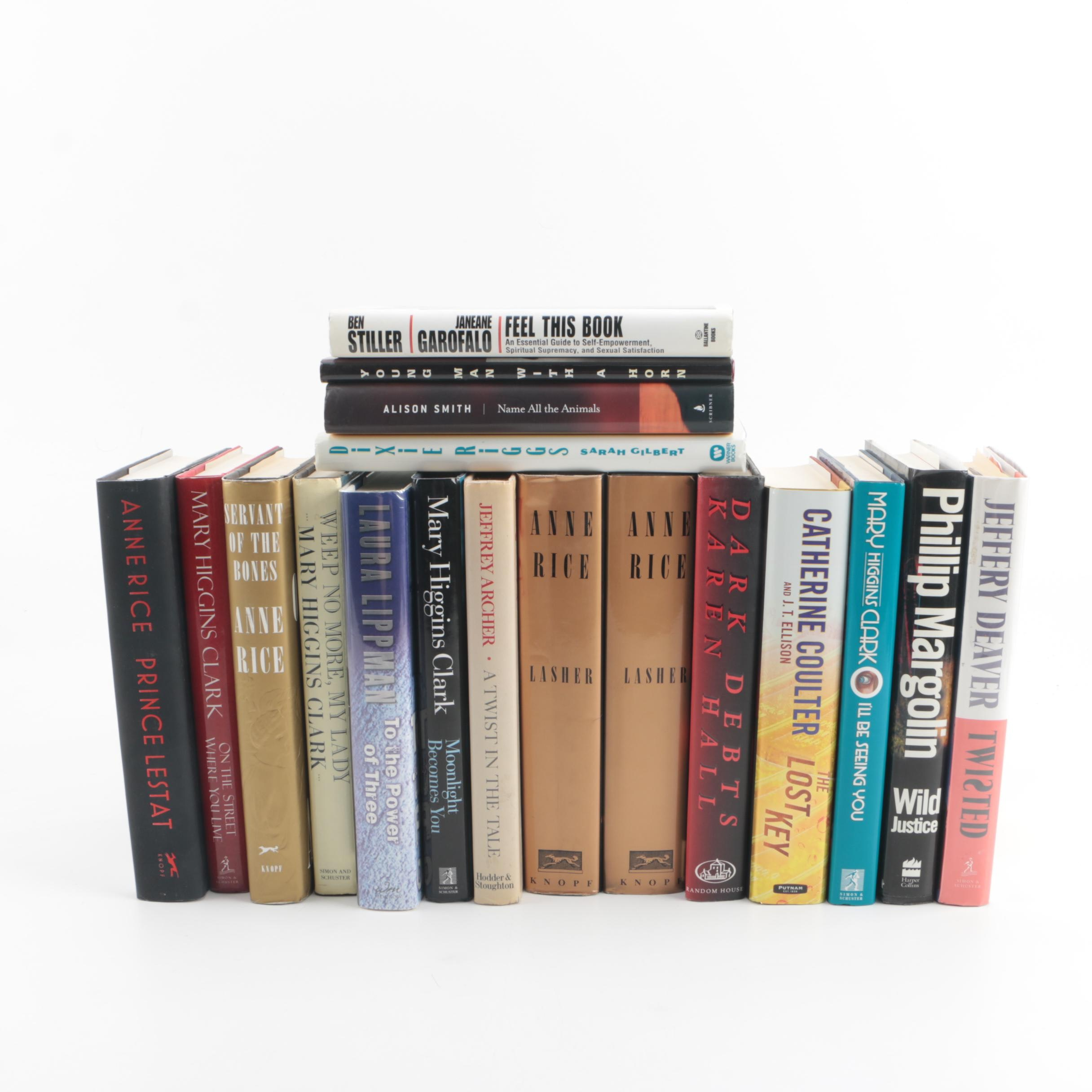 Signed Mystery and Drama Books including Anne Rice, Mary Higgins Clark