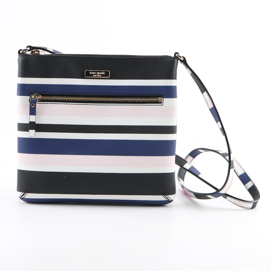 94d56add6e17 Kate Spade New York Rima Striped Crossbody Bag   EBTH