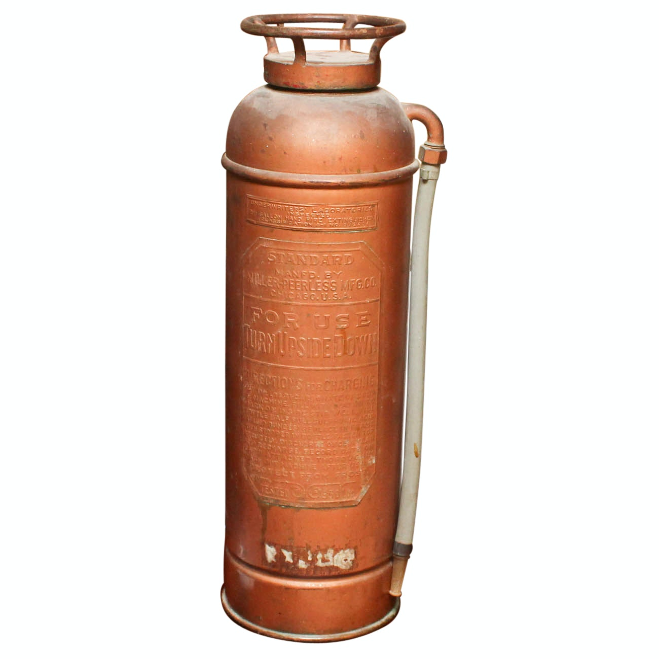 Antique Copper Miller-Peerless Fire Extinguisher
