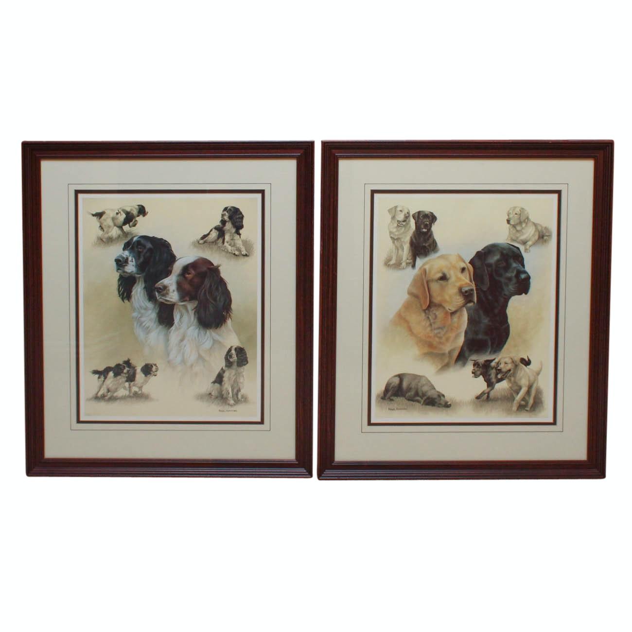Nigel Hemming Dog Portrait Lithographs