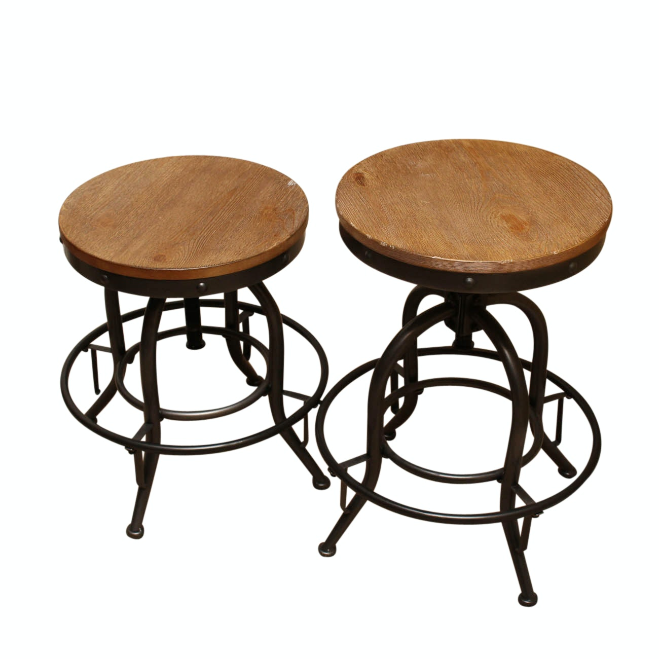 Pair of Ashley Furniture Adjustable Swivel Stools