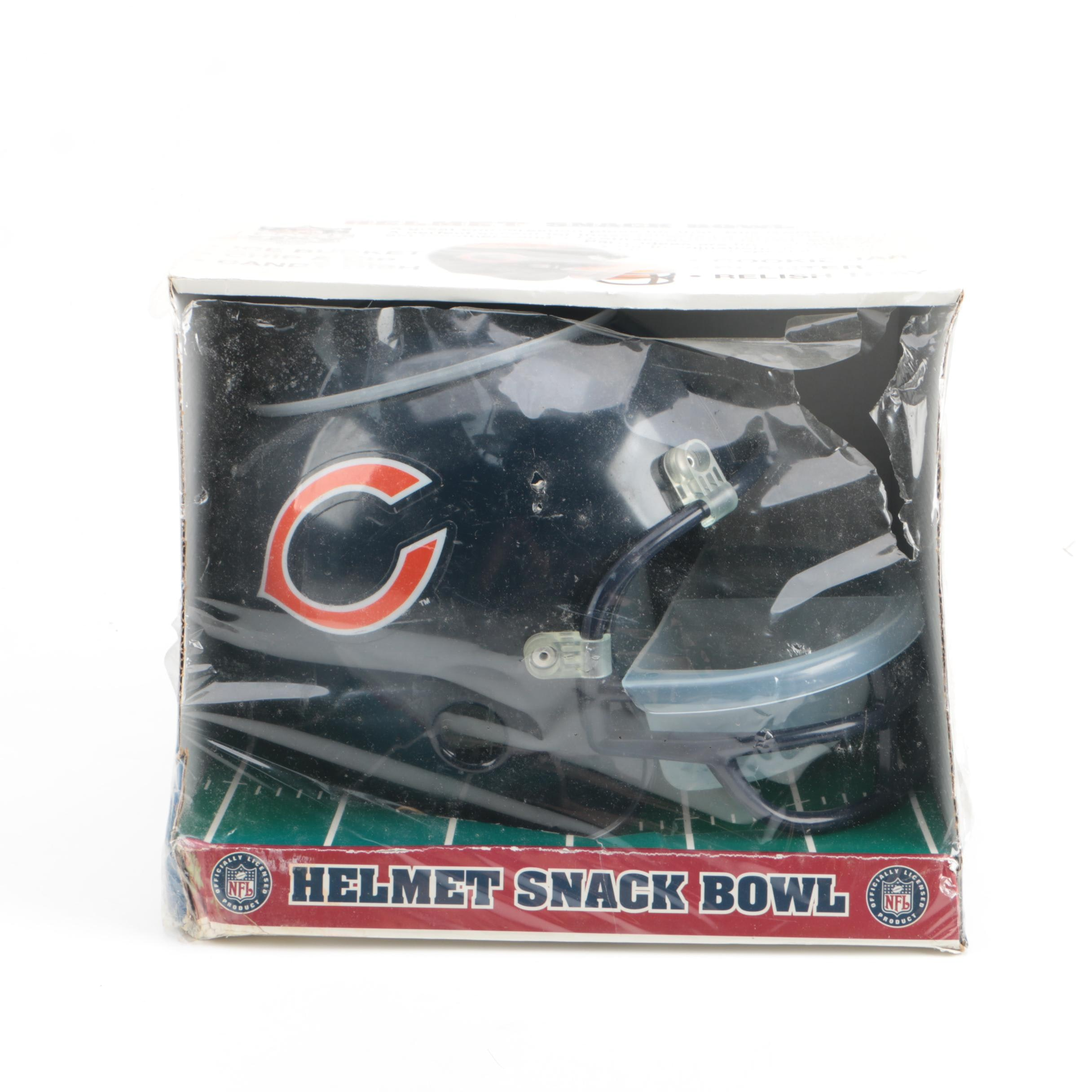 PK Products Chicago Bears Football Helmet Snack Bowl