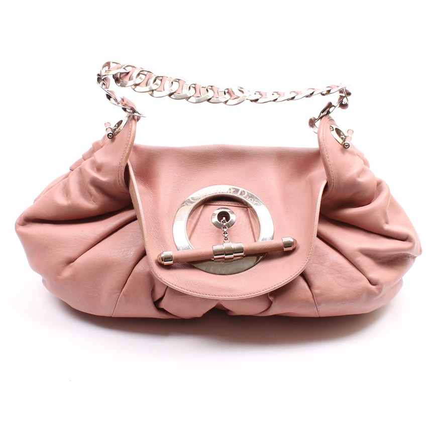 ef0481e62fc7 Christian Dior of Paris Jazz Club Pink Leather Satchel Handbag   EBTH