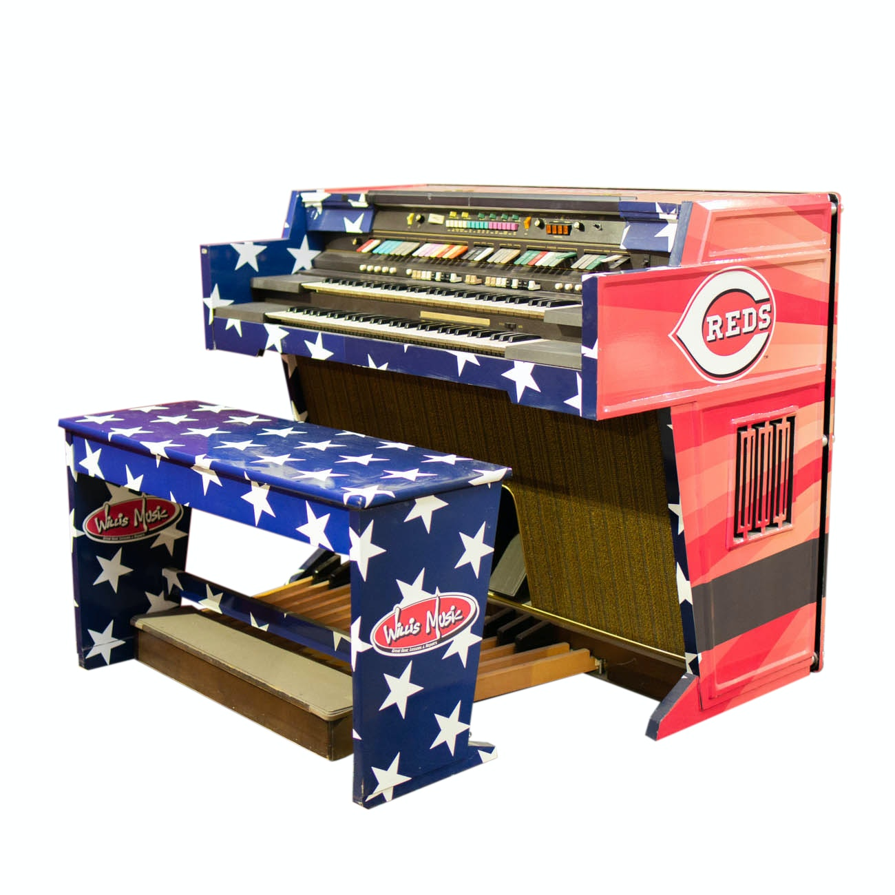 Willis Music Organ with Bench From Great American Ball Park COA