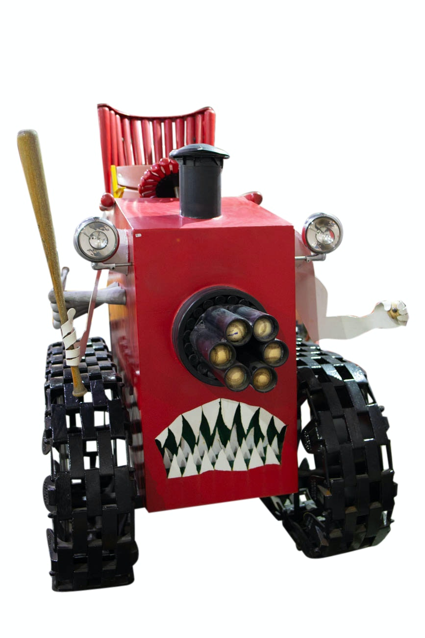 "Rare and Original Cincinnati ""Big Red Machine"" Bat Mobile Art Sculpture COA"