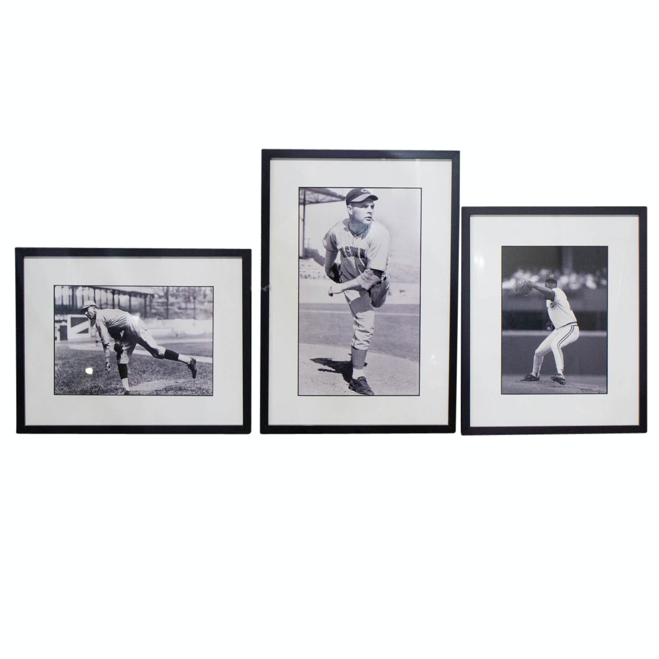 Rixey, Vander Meer, and Rijo Framed Photographs From The Cincinnati Reds COA