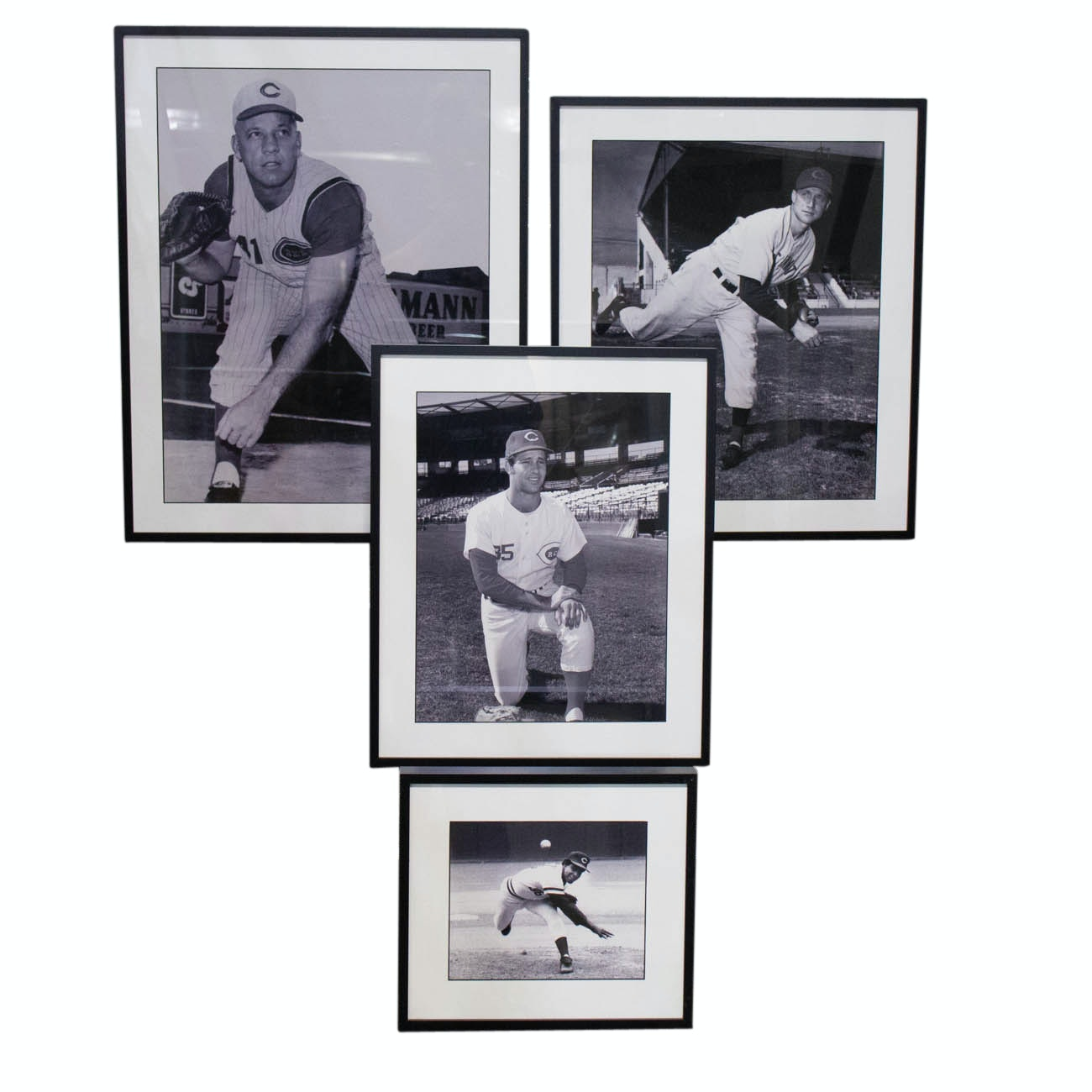 Nuxhall, Gullett, Soto, and Walters Reds Photographs COA