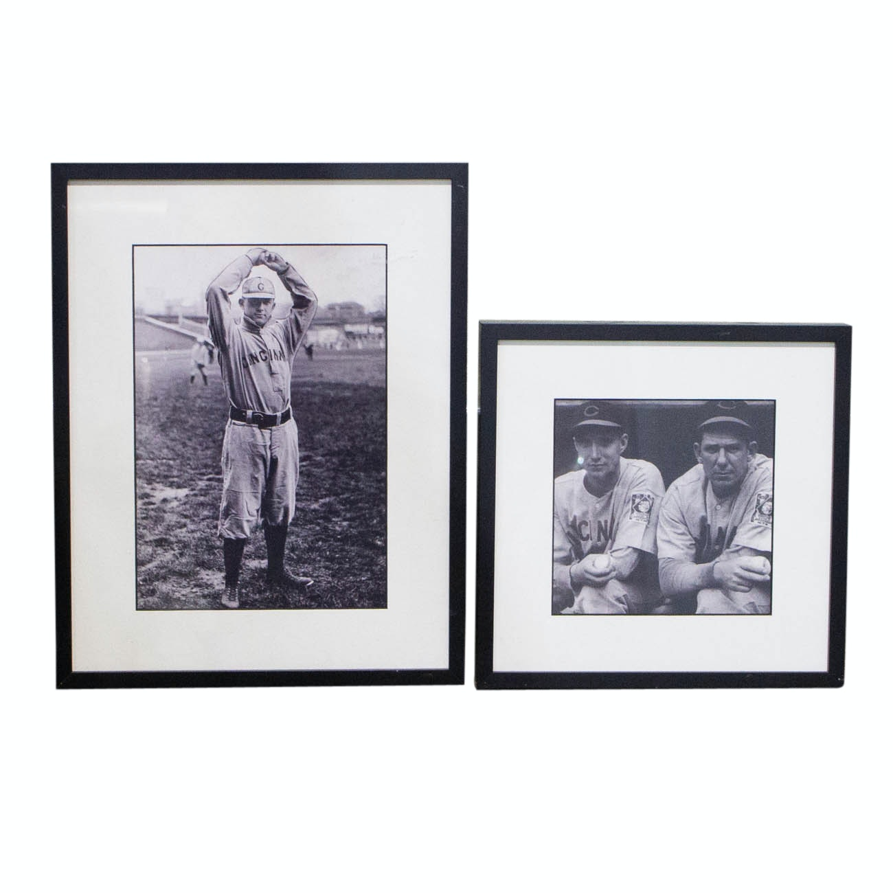 Pitching Greats Noodles Hahn, Bucky Walters, and Other Framed Photographs COA