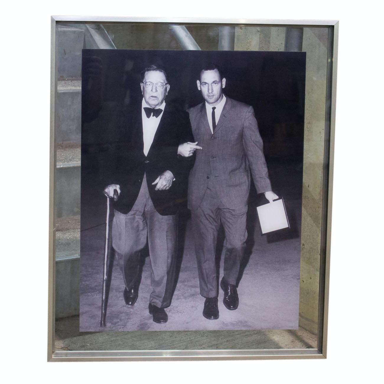 Framed Photograph of Hall of Fame Baseball Executive Branch Ricky COA