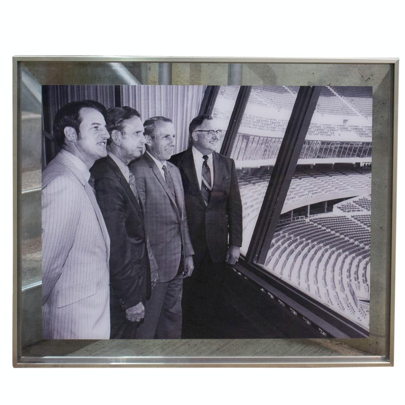 1969-1970 Opening Riverfront Stadium Group Photograph COA