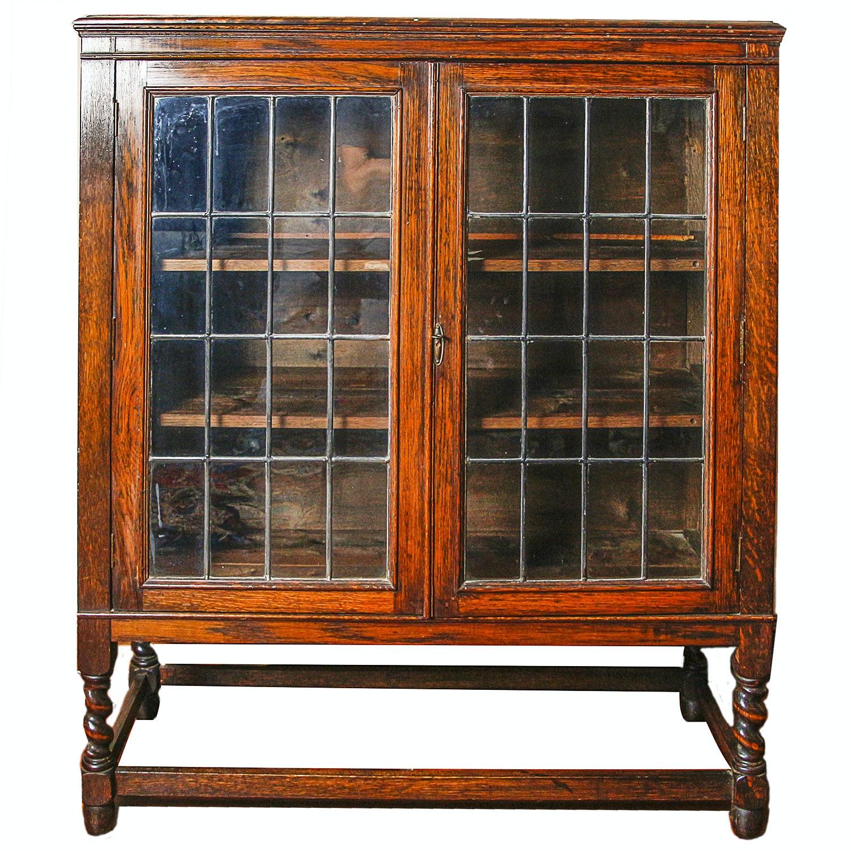 Quartersawn Oak Bookcase Cabinet