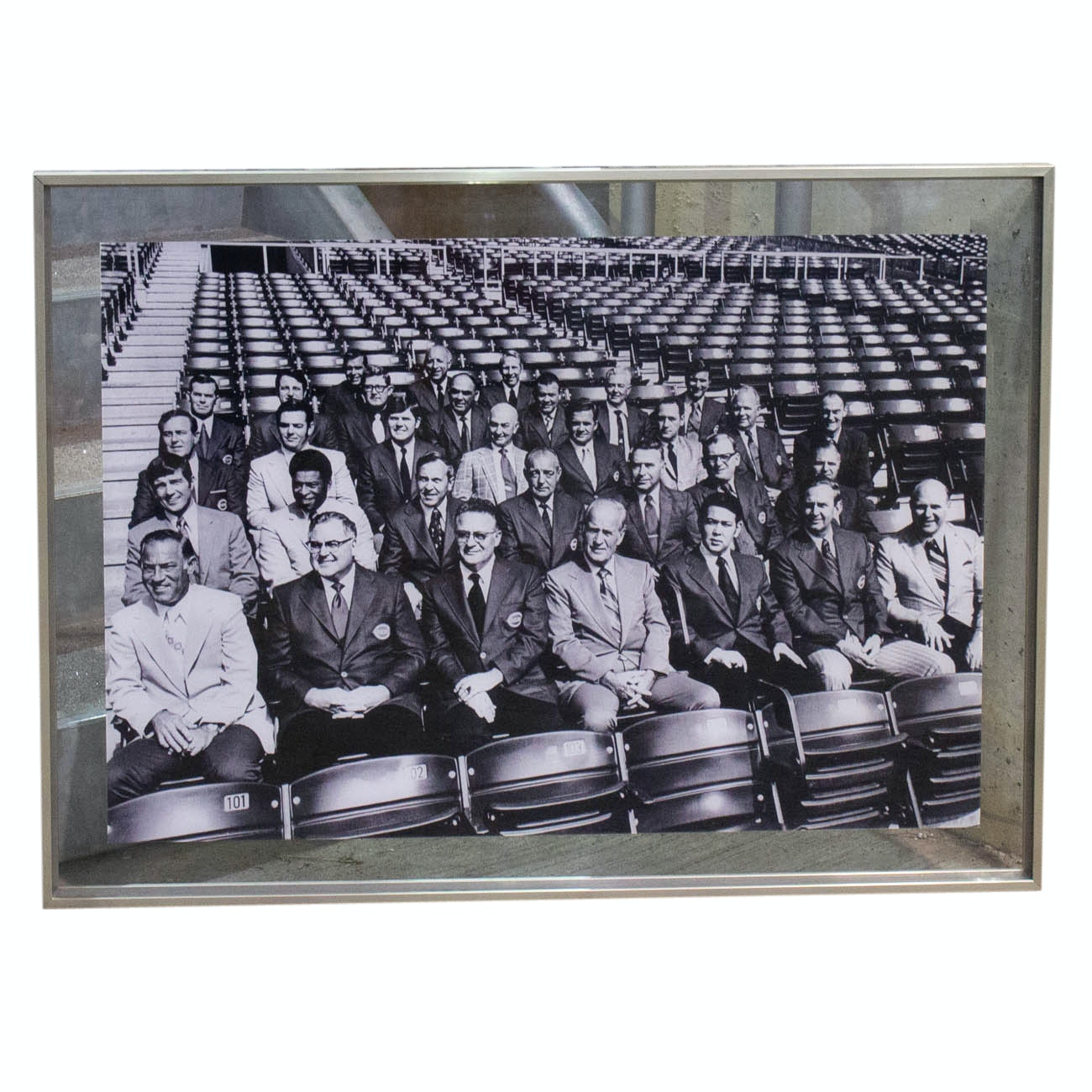 Framed Group Photograph of Cincinnati Official at Newly Built Riverfront COA