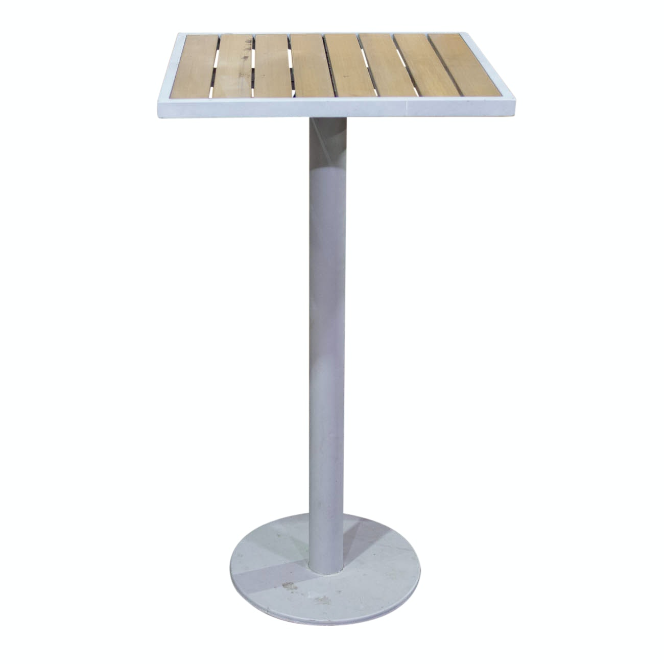 Merveilleux Tall Metal Table With Wood Top From Great American Ball Park COA ...