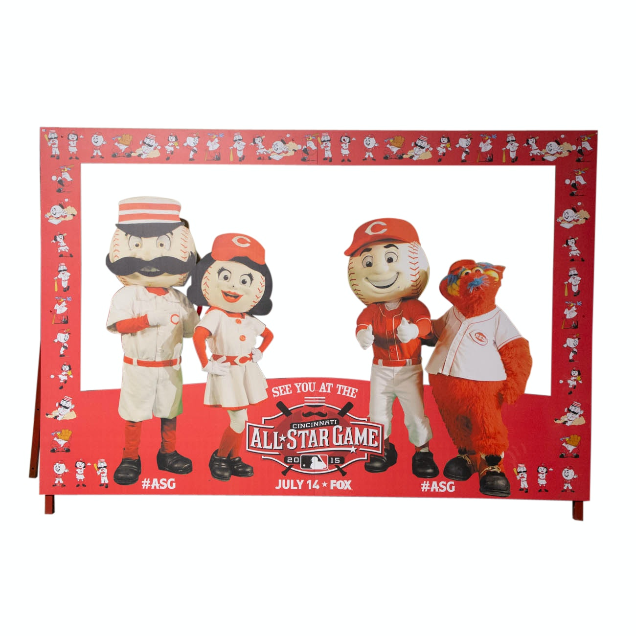 Stand In Photo Frame From The 2015 All-Star Game Great American Ball Park COA