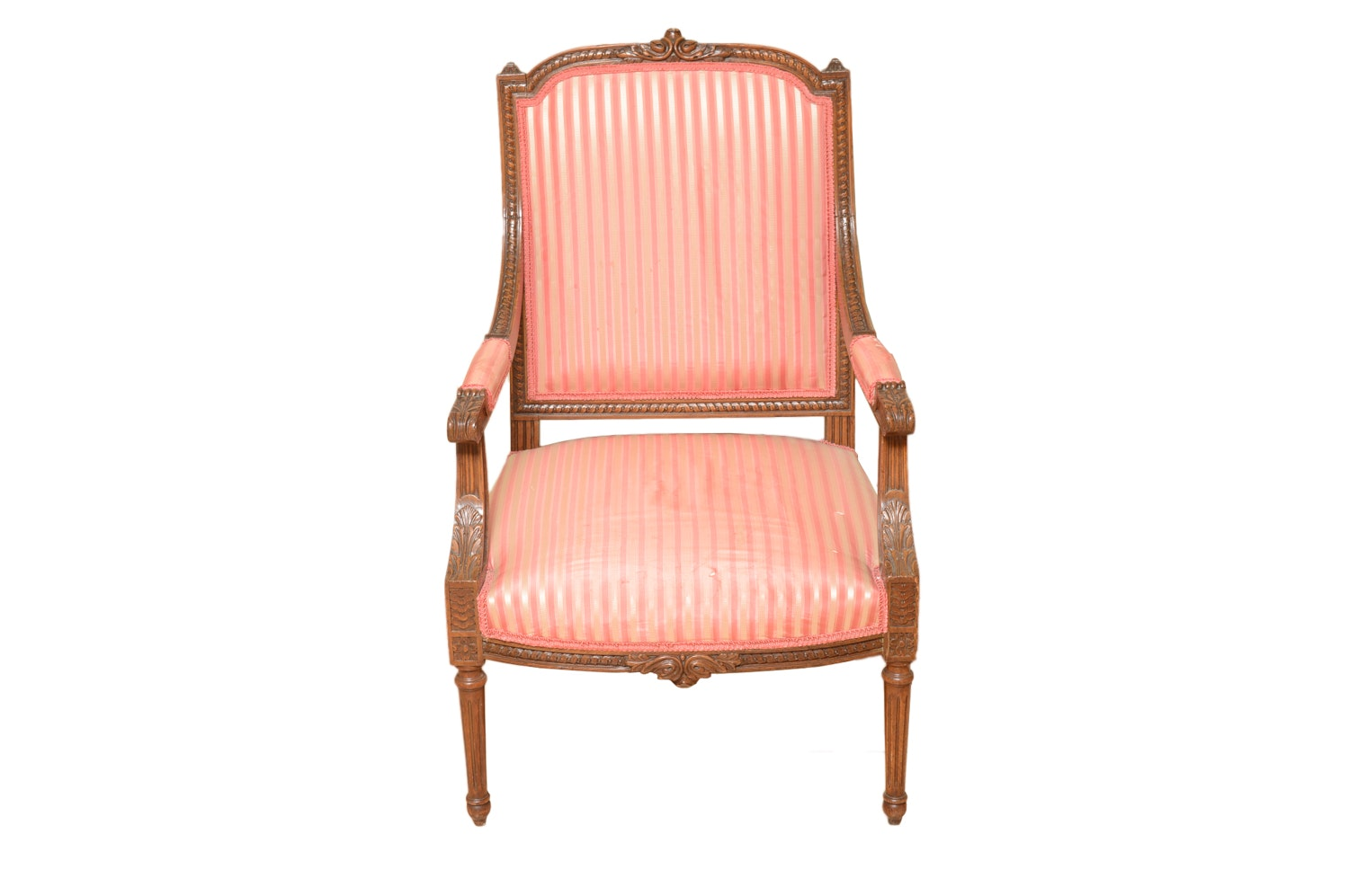 Vintage Louis XVI Style Upholstered Armchair