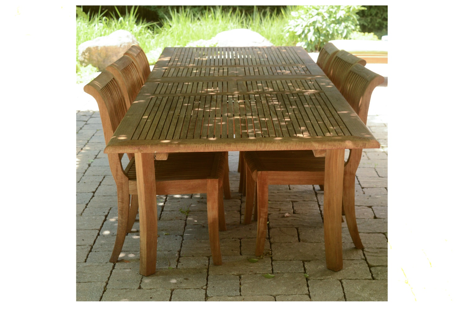 Teak Patio Dining Table and Chairs by Smith & Hawken
