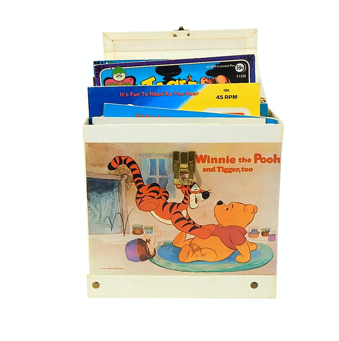 Winnie the Pooh Vinyl Covered Story Book and Album Storage Box